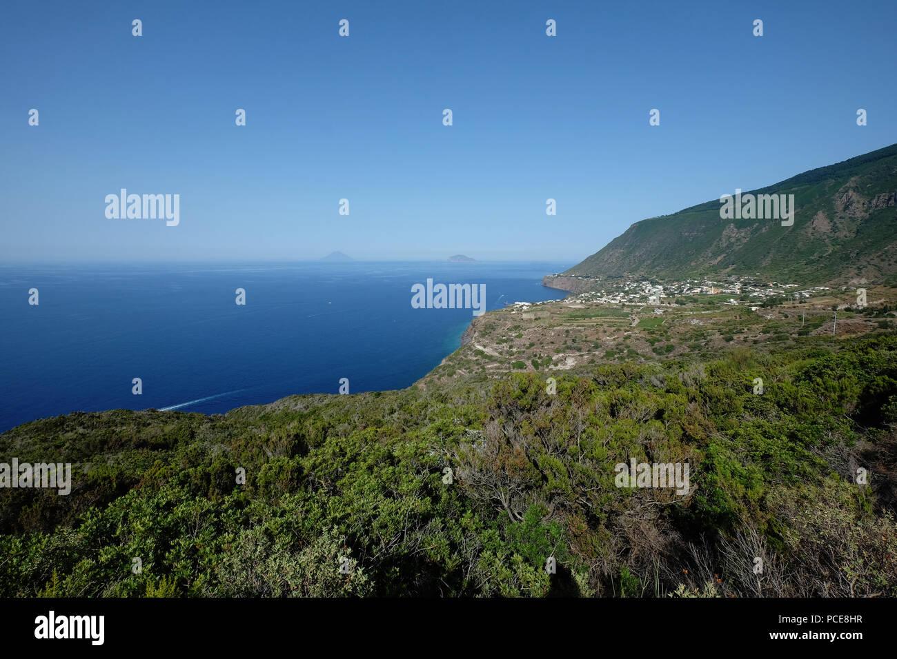 near Malfa,Salina, Aeolian islands,Sicily,Italy Stock Photo
