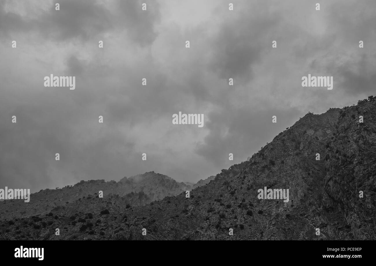 mountains,  landscapes and waterfall in the Ourika Valley, Morocco - Stock Image