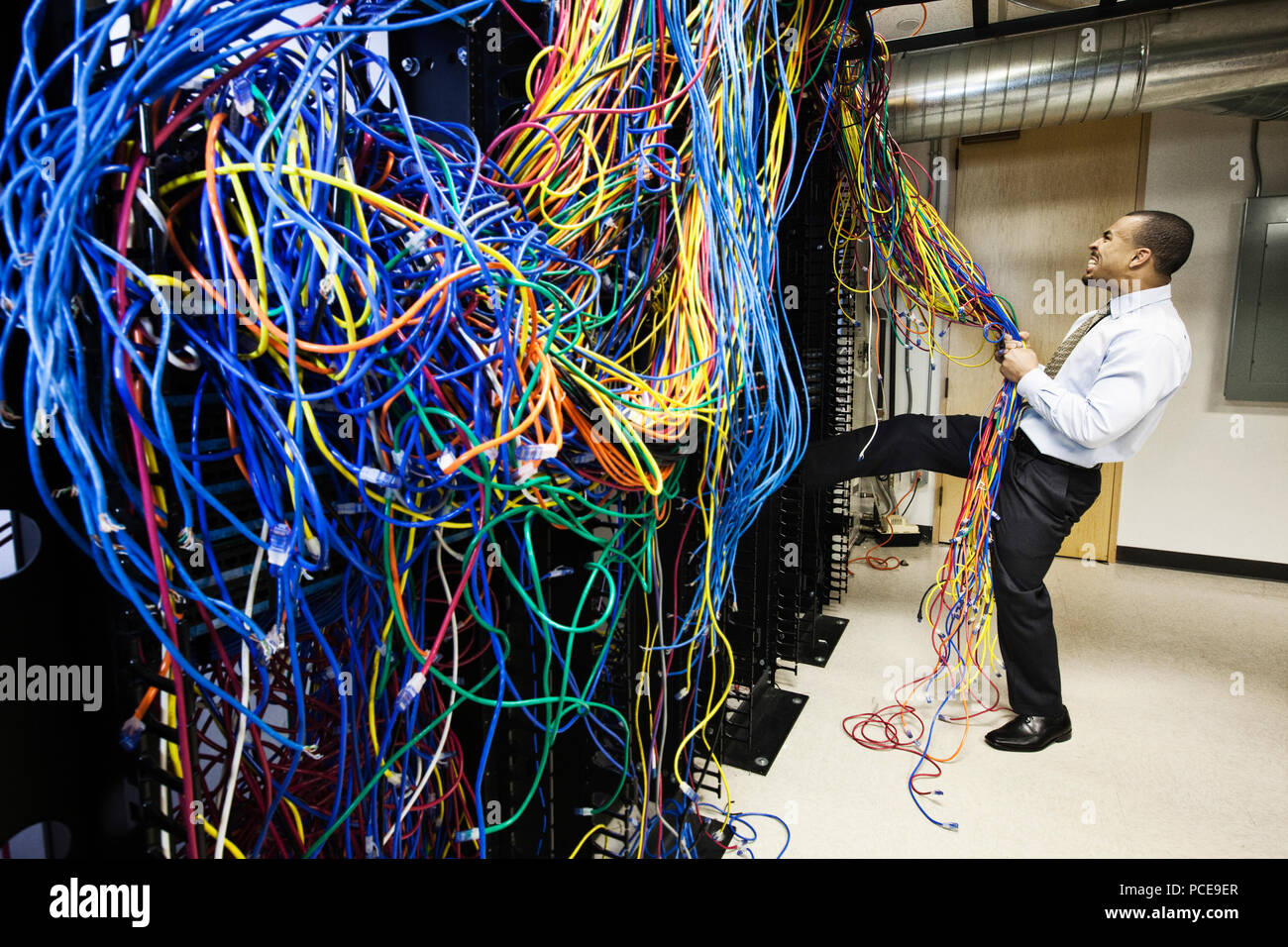 Cat5 Wiring Mess Not Lossing Diagram Computer Cat 5 Cables Stock Photos Images Alamy Rh Com Cat6 Printable