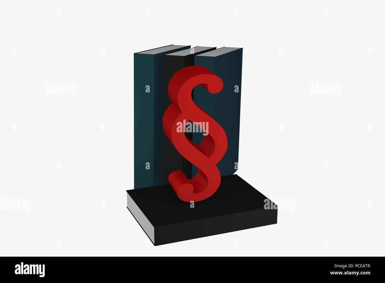 Paragraph Symbol Stands In Front Of Books 3d Rendering Stock Photo