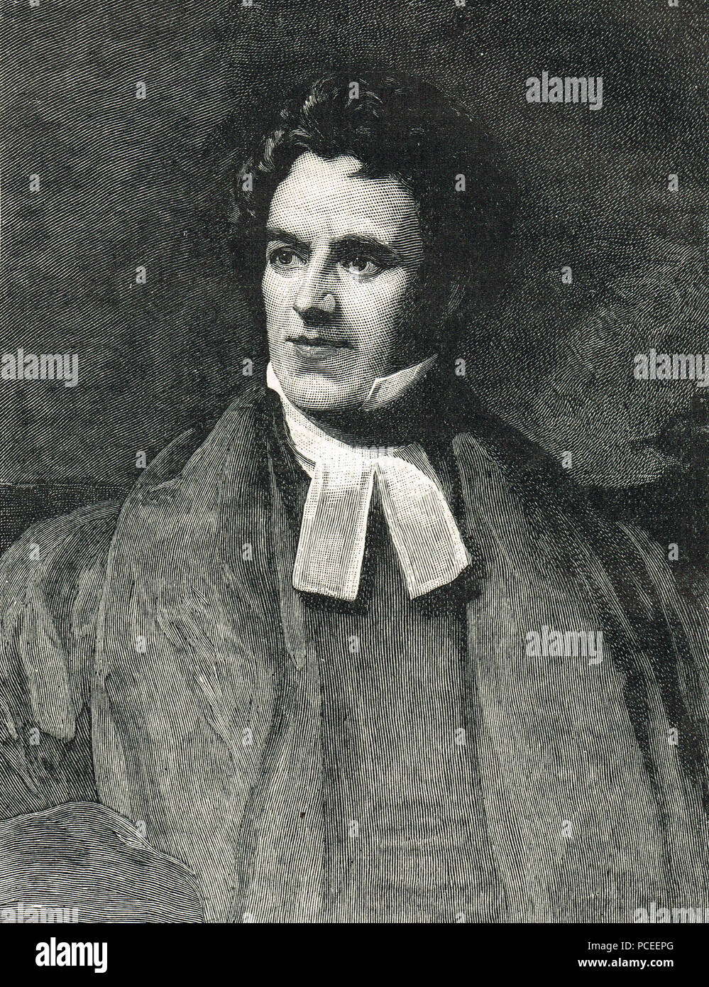 Thomas Arnold, English educator and historian, supporter of the Broad Church Anglican movement, and headmaster of Rugby School - Stock Image