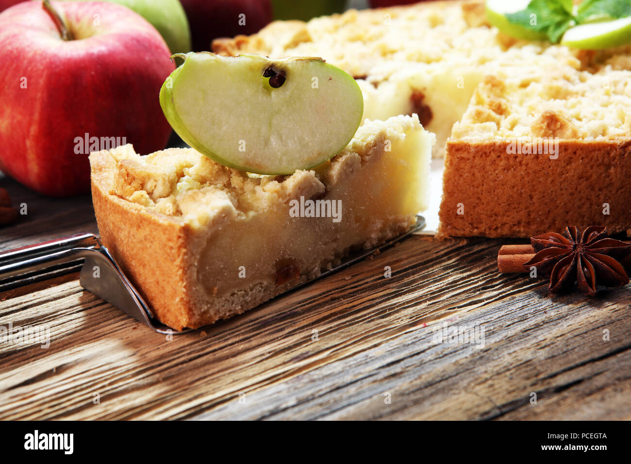 Apple Pie Or Homemade Cake With Apples Delicous Dessert Apple Tart Stock Photo Alamy