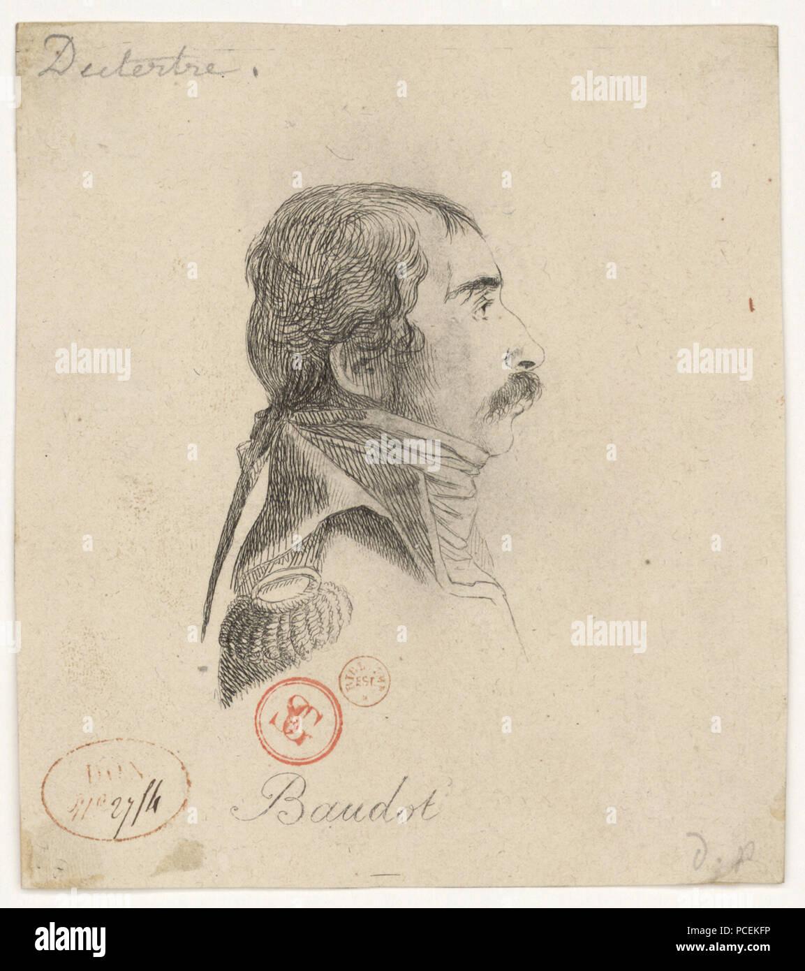 76 Baudot Marc Antoine 1765-1837) Stock Photo
