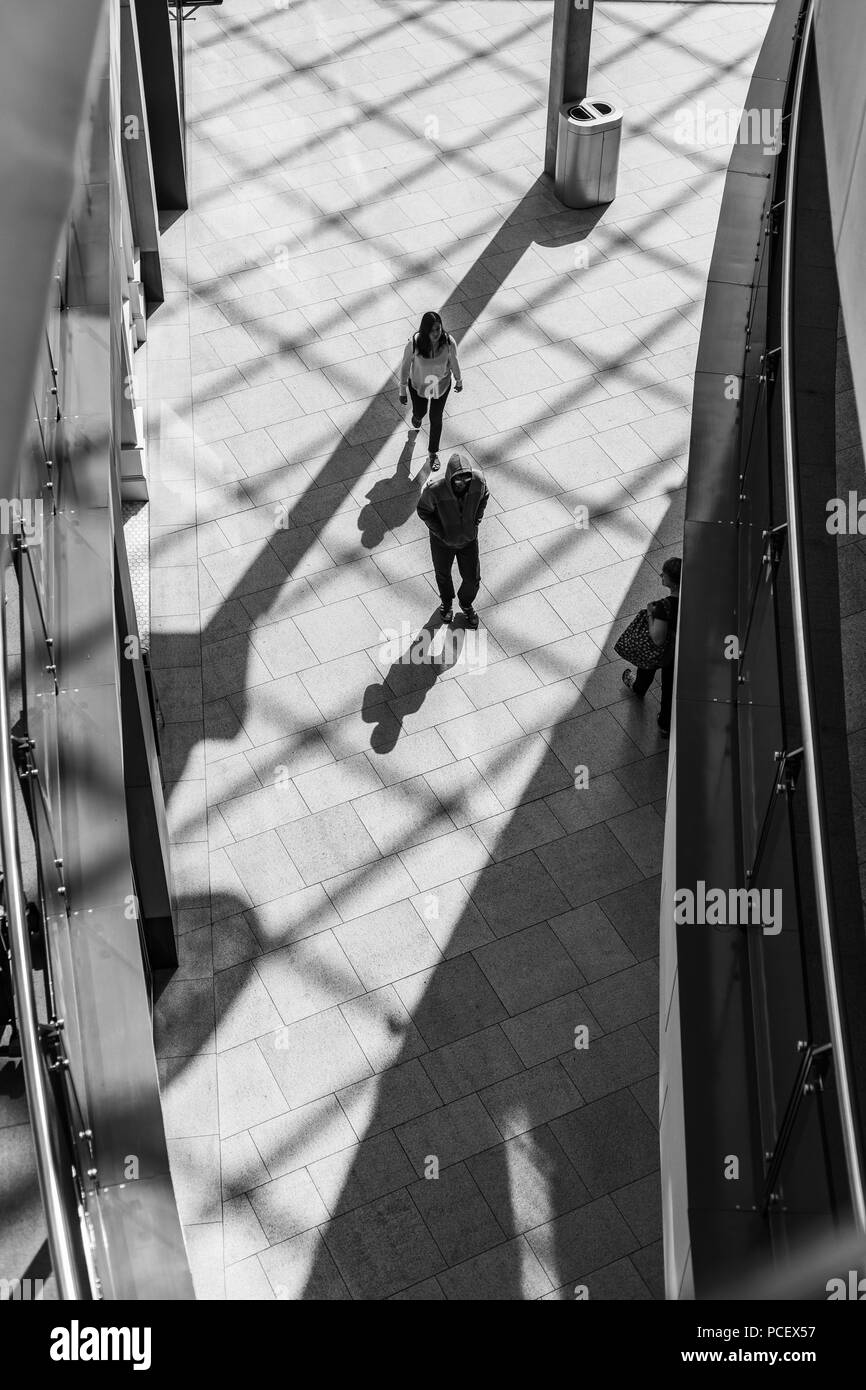Silhouette of People - Stock Image