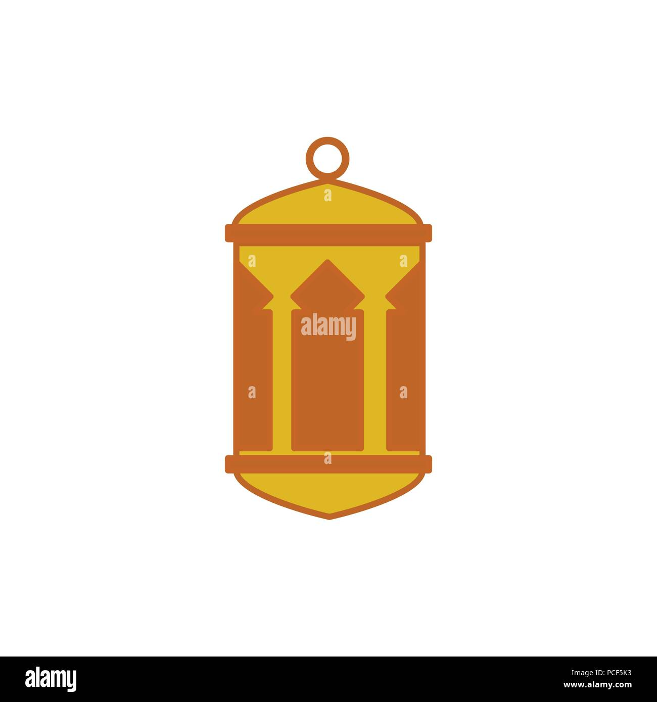 House Pillars Round Top Bottom Hanging Lantern Vector Illustration Symbol Graphic Design Template - Stock Image