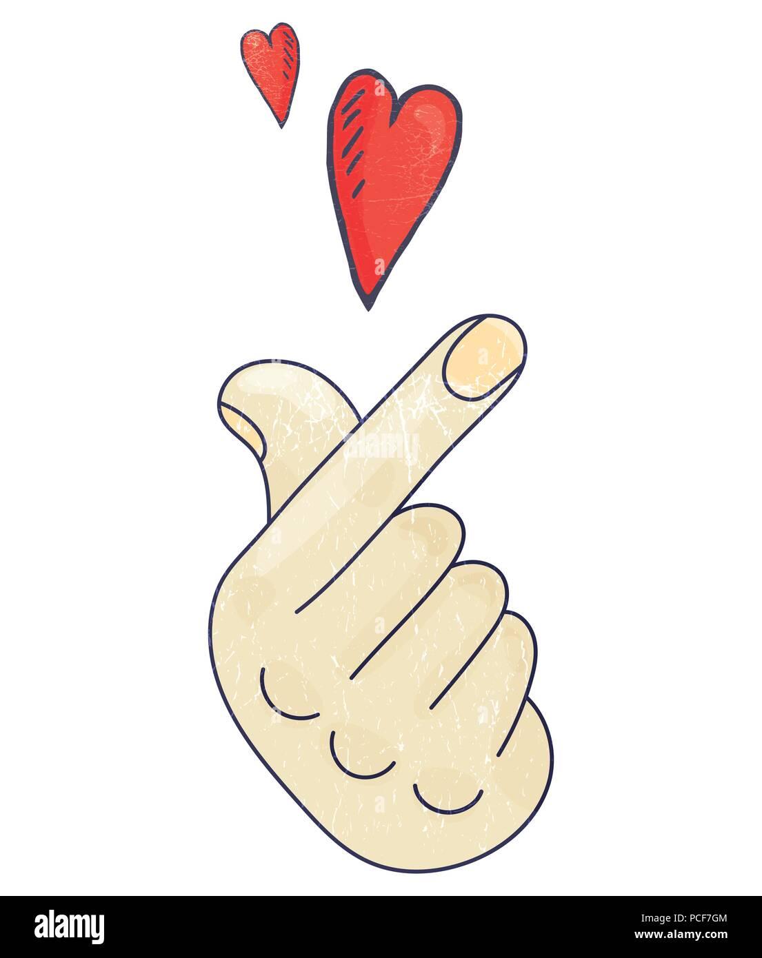 hand hearts korean - HD1105×1390