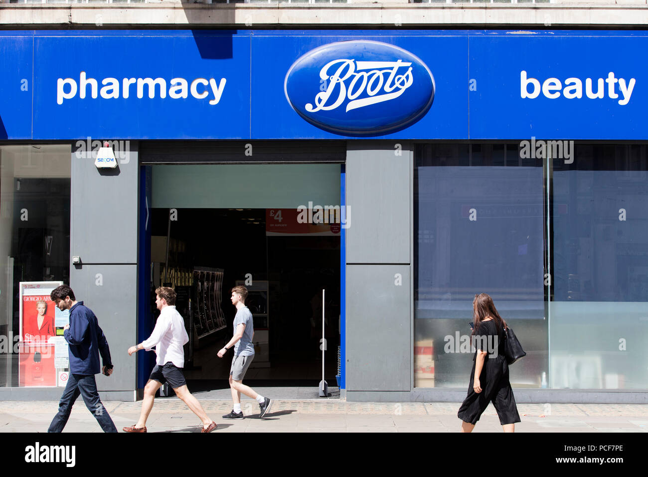 LONDON, UK , JULY 31th 2018 Boots cosmetics and pharmacy