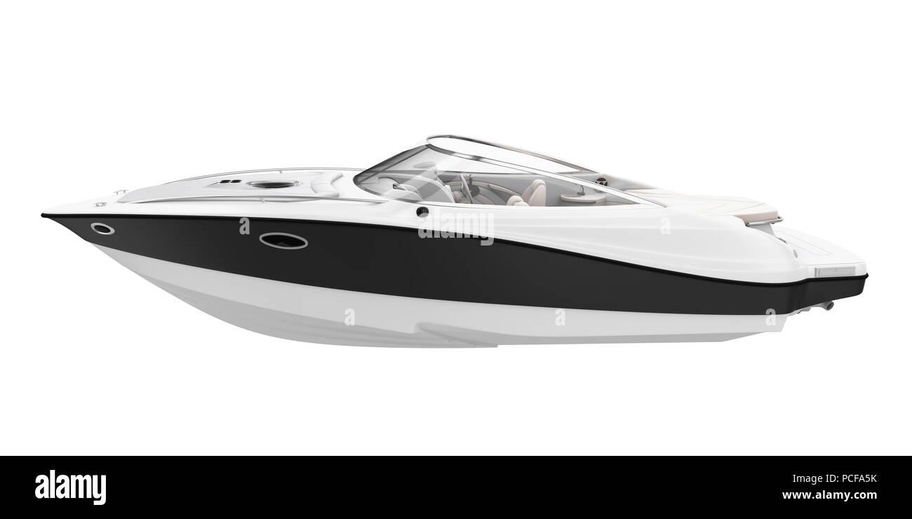 Speedboat Isolated - Stock Image
