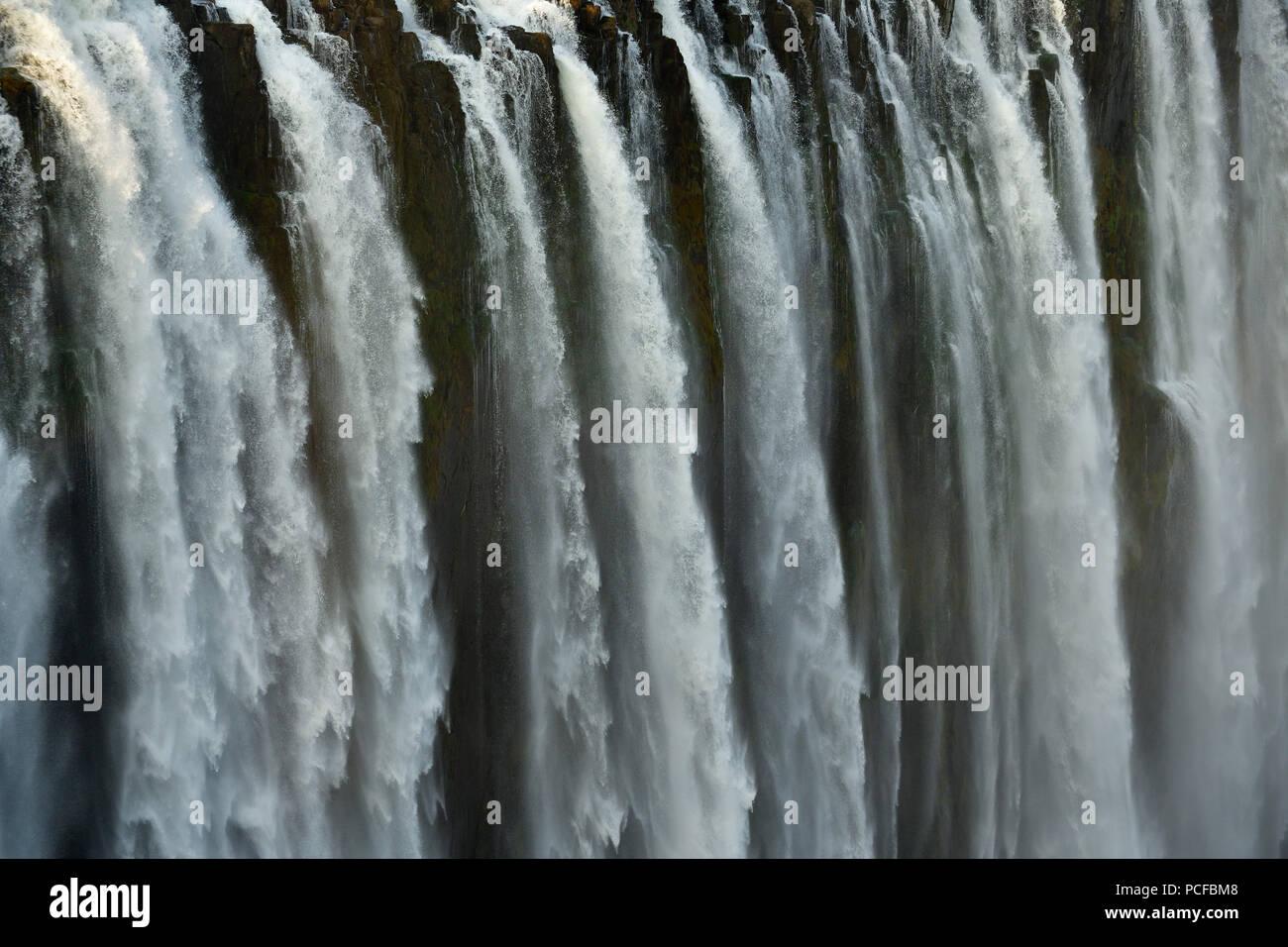 Falling Waters Victoria Falls Zimbabwe Africa Stock Photo