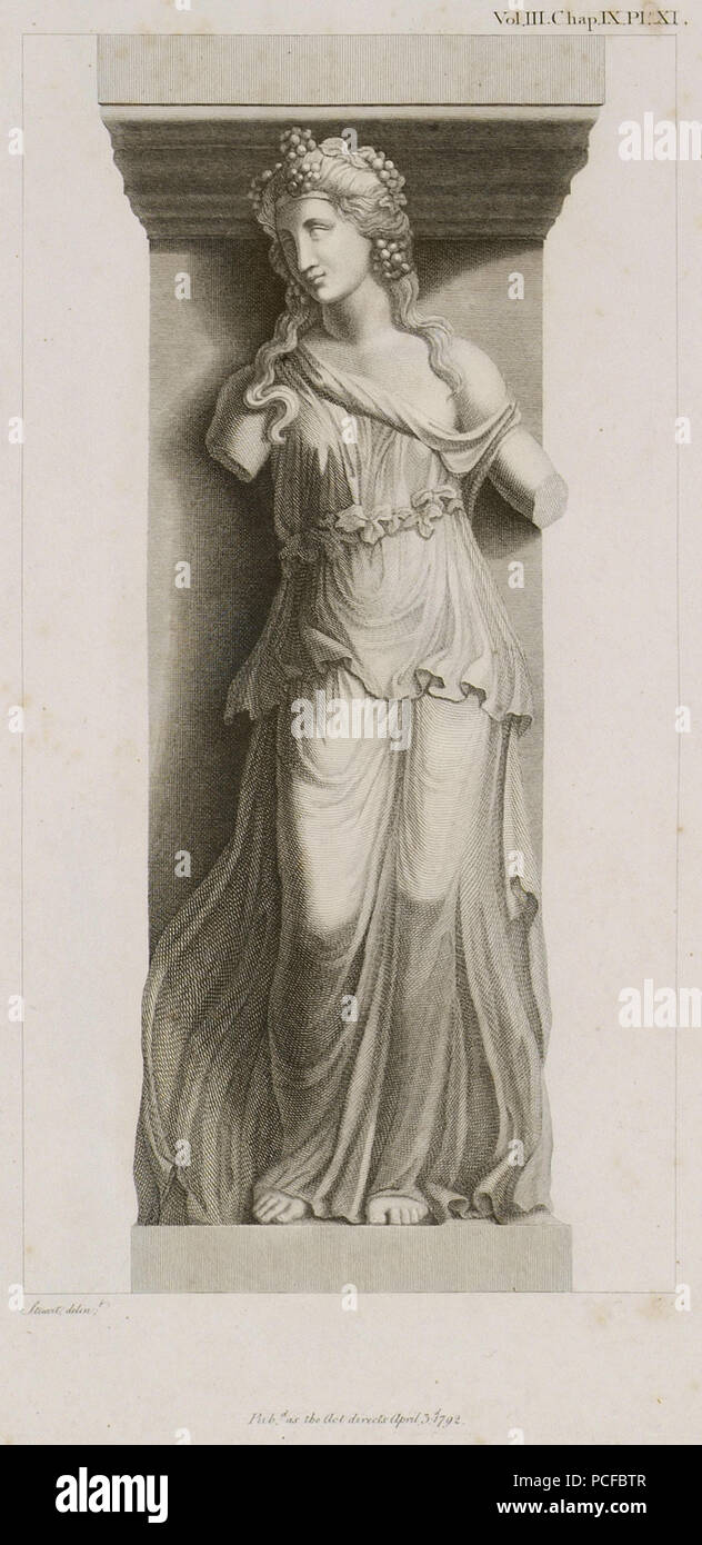67 Bacchante with a Thyrsus - Stuart James & Revett Nicholas - 1794 Stock Photo