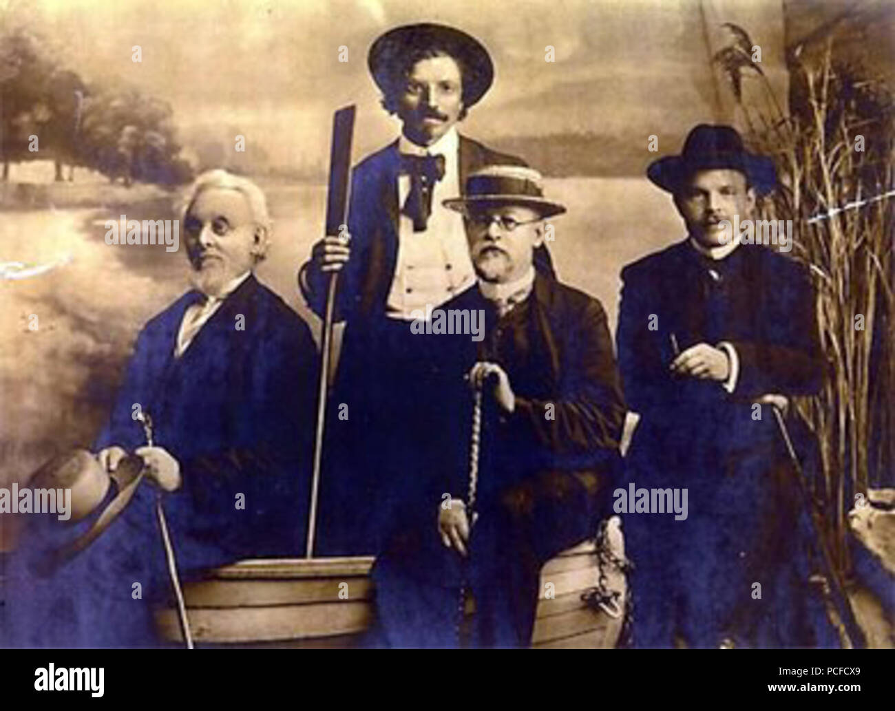 412 Mendele Mos Sholem Aleichem Ben-Ami Bialik Odessa 1910 - Stock Image