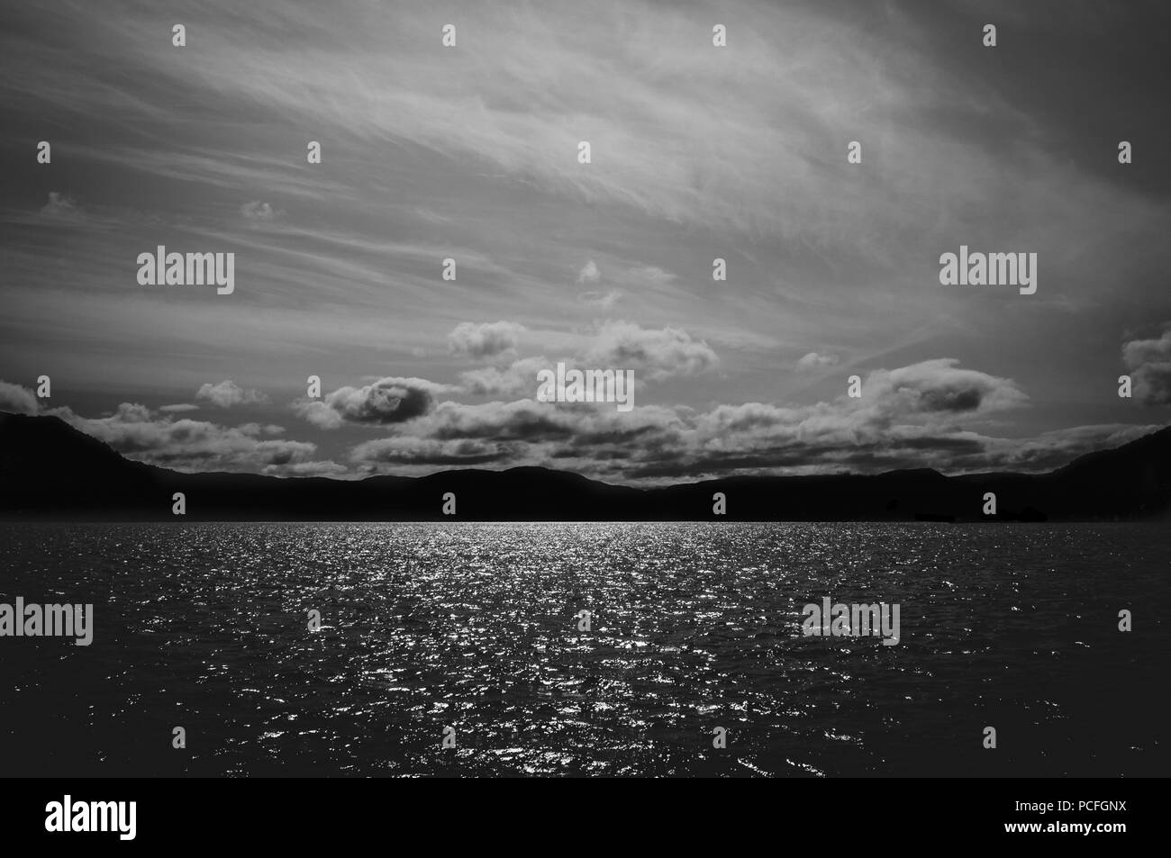 Dramatic seascape in black and white perfect decorative art photography for home or work
