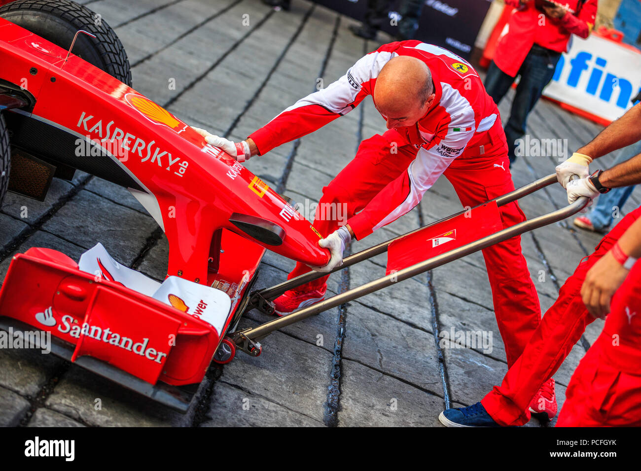 Mexico City, Mexico - July 08, 2015: Front Jack Man testing the