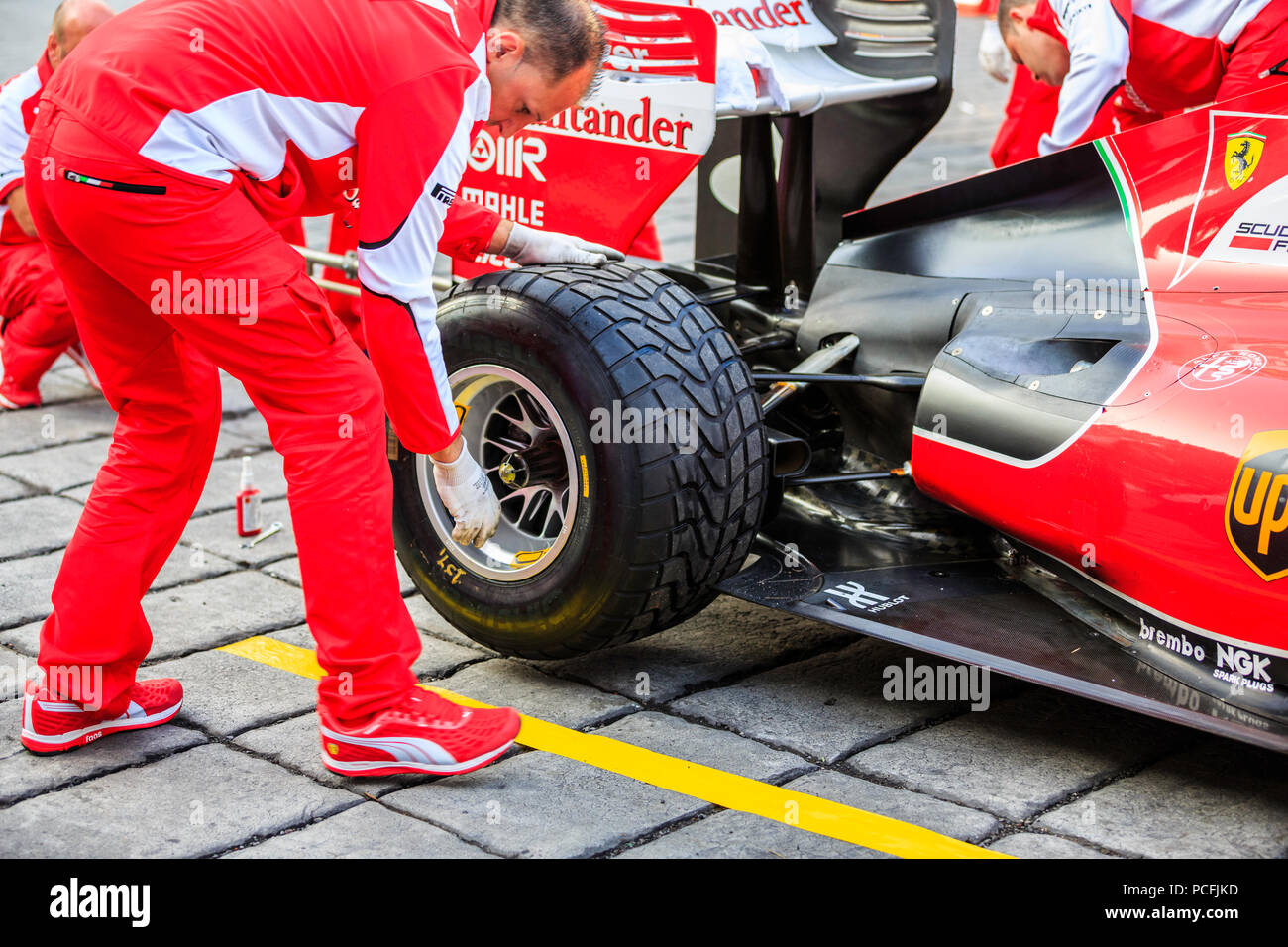 Mexico City, Mexico - July 08, 2015: Rear Jack Man testing the