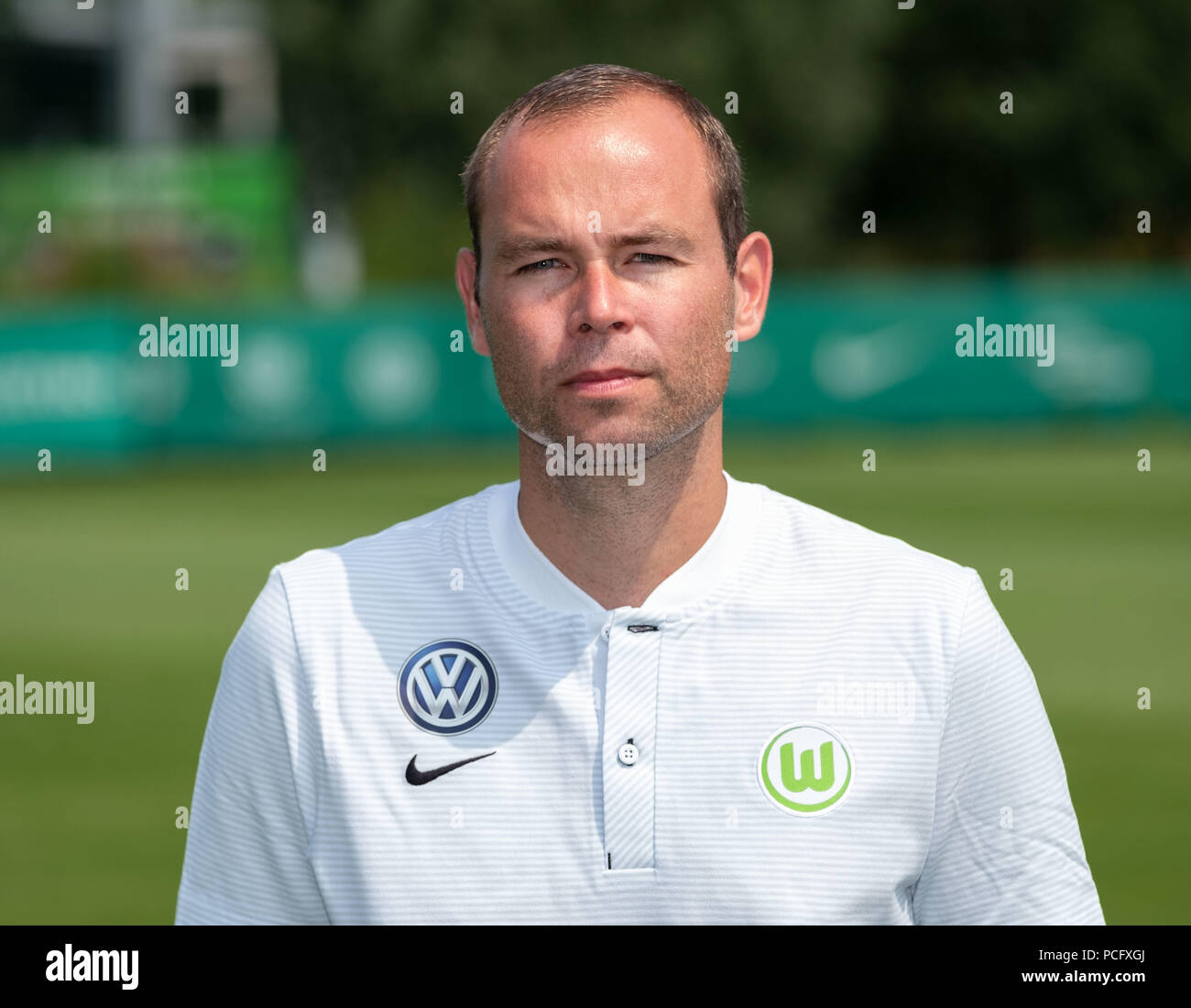 Wolfsburg, Germany. 20th July, 2018. German Bundesliga, official photocall VfL Wolfsburg for season 2018/19 in Wolfsburg, Germany: kitman Nils Scholz ; Credit: Peter Steffen/dpa | usage worldwide/dpa/Alamy Live News - Stock Image