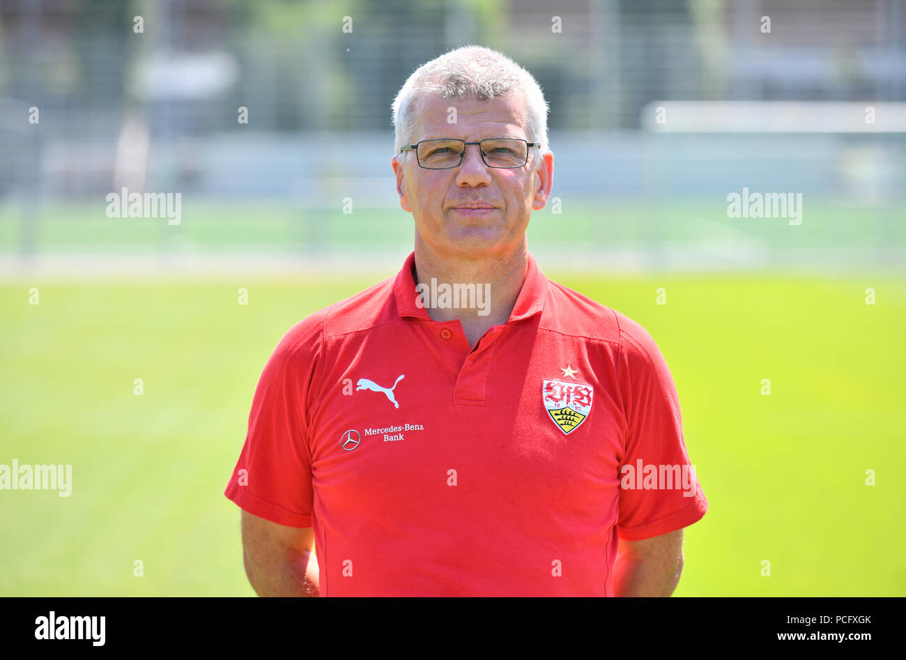 Stuttgart, Germany. 19th July, 2018. German Bundesliga, official photocall VfB Stuttgart for season 2018/19 in Stuttgart, Germany: kitman Michael Meusch ; Credit: Jan-Philipp Strobel/dpa | usage worldwide/dpa/Alamy Live News - Stock Image