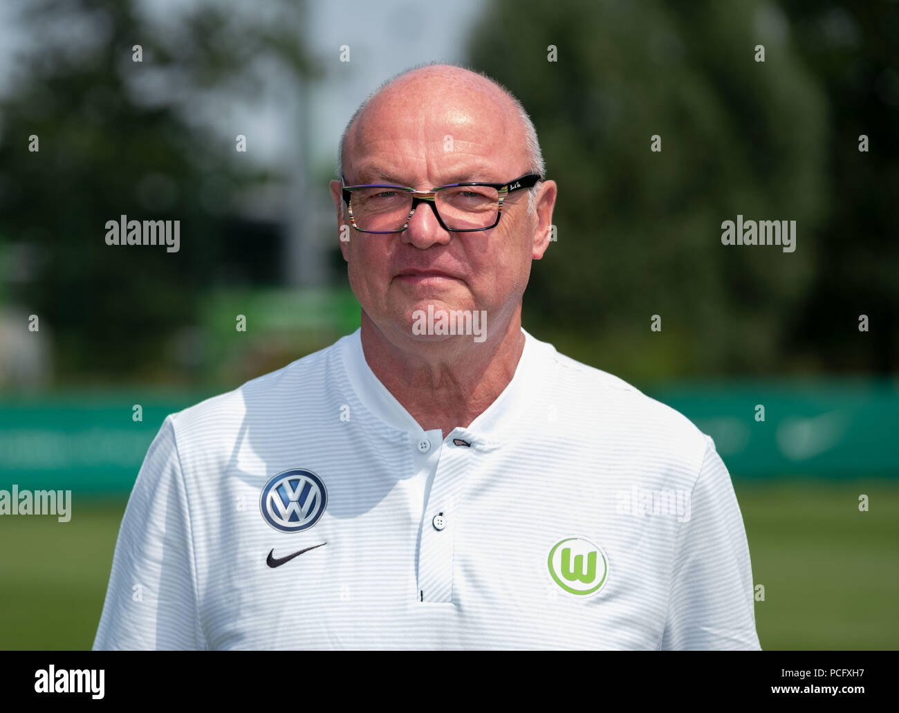 Wolfsburg, Germany. 20th July, 2018. German Bundesliga, official photocall VfL Wolfsburg for season 2018/19 in Wolfsburg, Germany: kitman Heribert Ruettger; Credit: Peter Steffen/dpa | usage worldwide/dpa/Alamy Live News - Stock Image