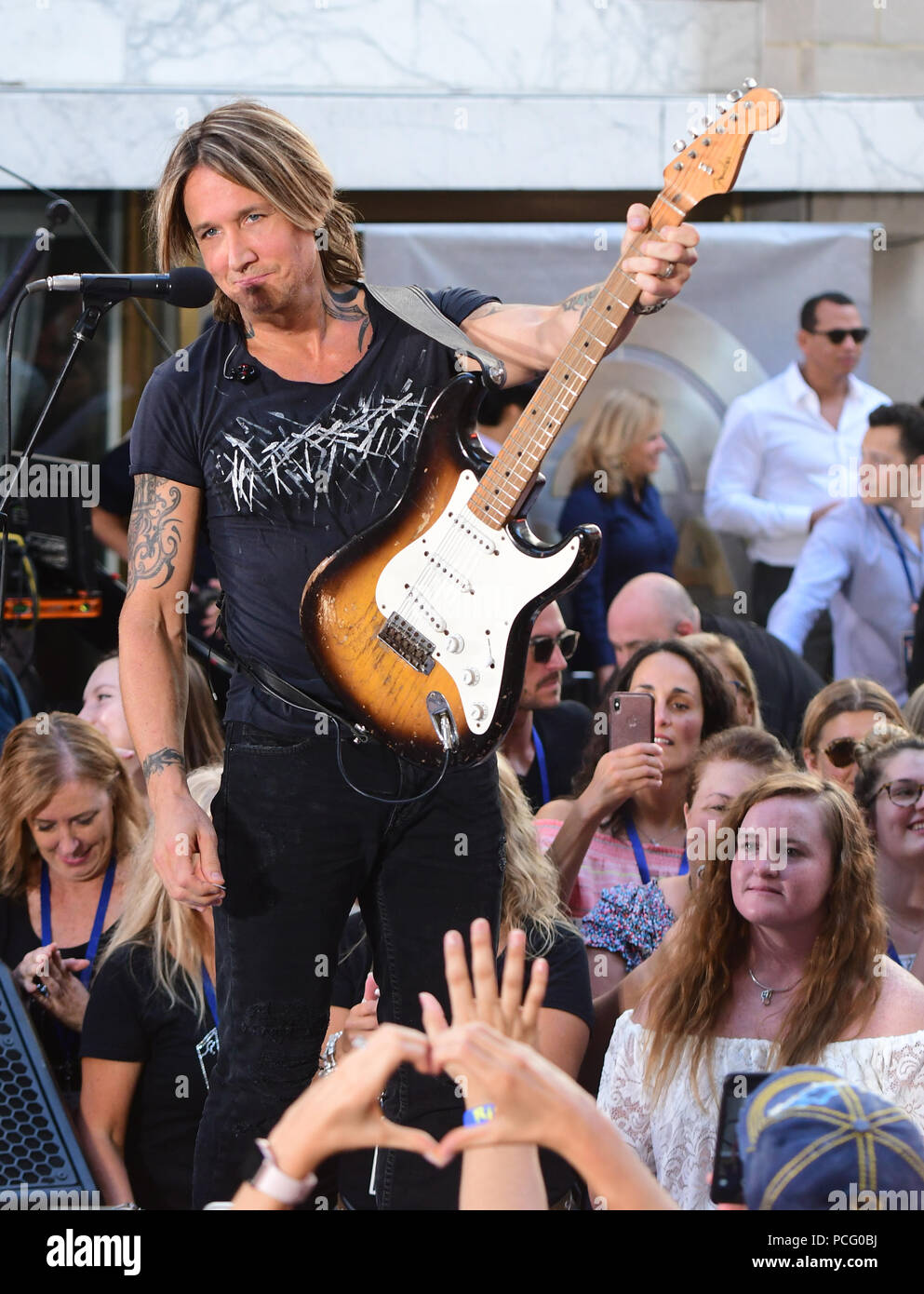 New York, NY : August 2: Keith Urban attends on NBC's 'Today' at Rockefeller Plaza on August 2, 2018 in New York City. Credit: John Palmer/Media Punch - Stock Image