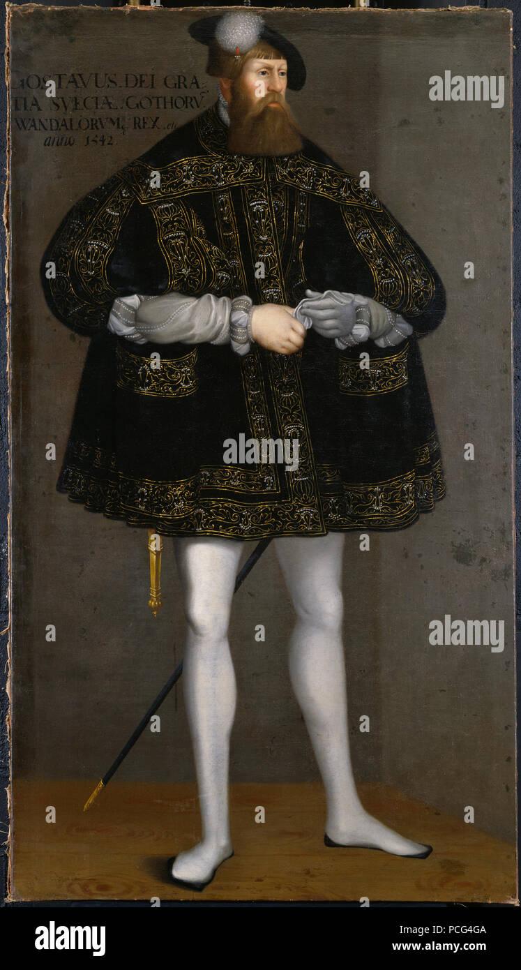 40 Gustav I, 1497-1560, konung av Sverige (David Frumerie) - Nationalmuseum - 15236 Stock Photo
