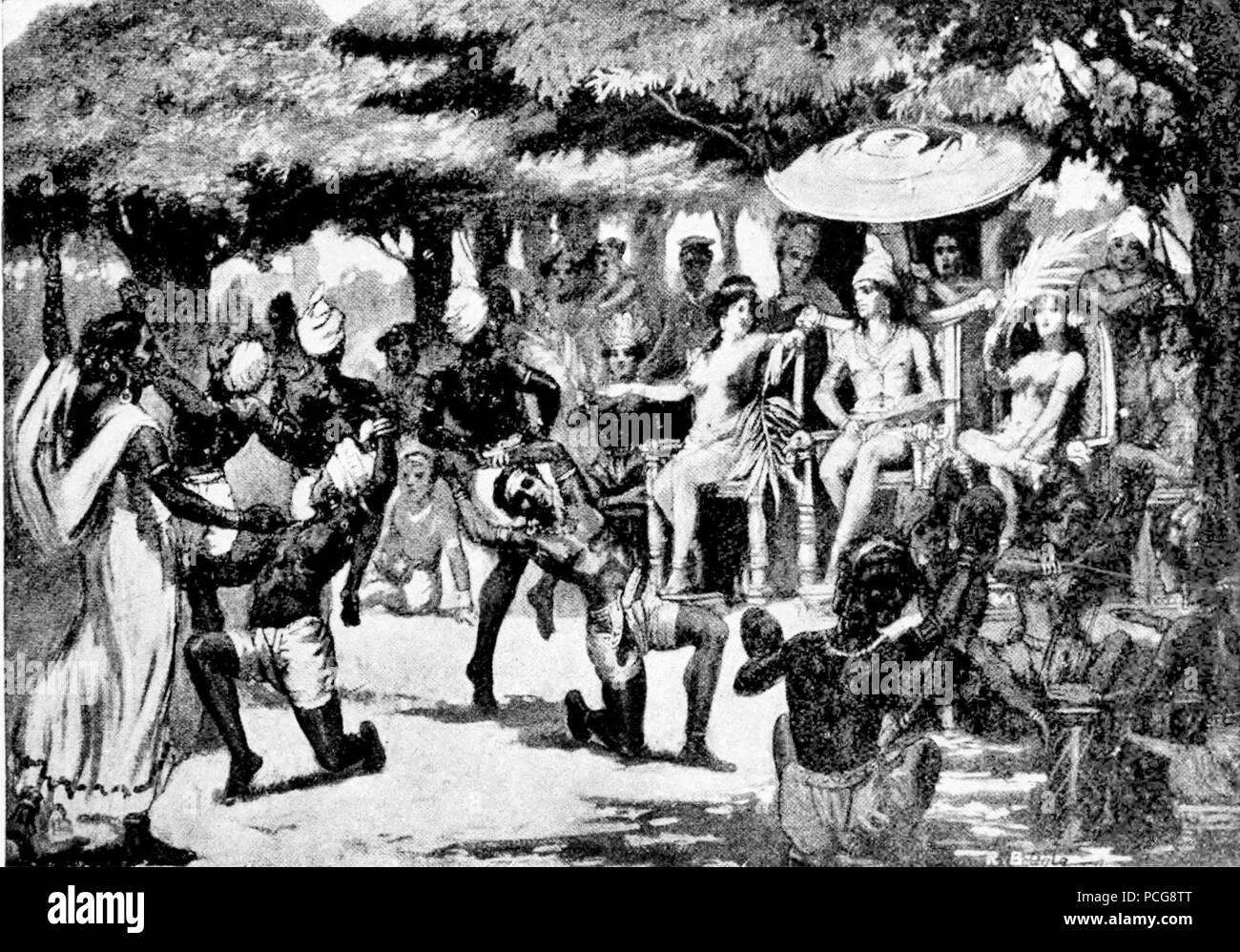 122 Chandra Gupta Maurya entertains his bride from Babylon - Stock Image