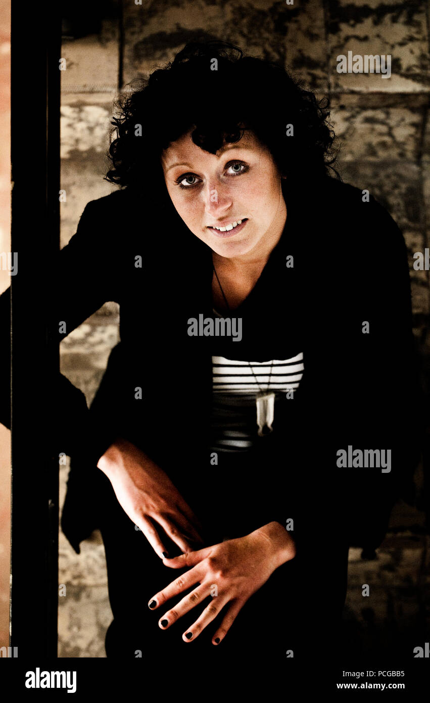 portrait and serie of jewelry designer lore langendries and her work belgium 01 06 2010 stock. Black Bedroom Furniture Sets. Home Design Ideas