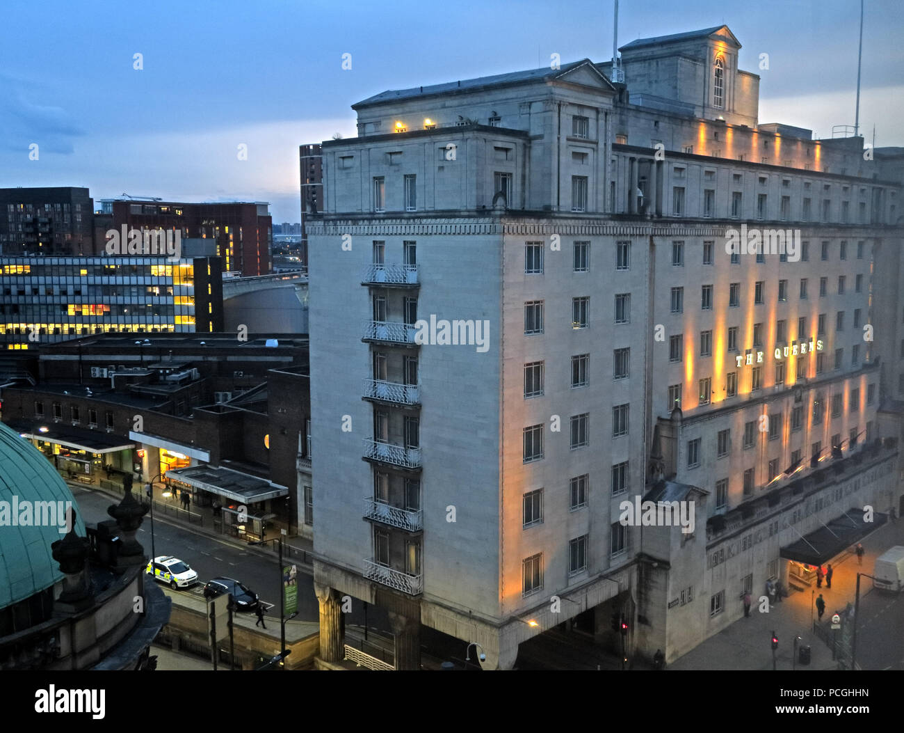 Leeds city centre, West Yorkshire, England, LS1, UK - Stock Image