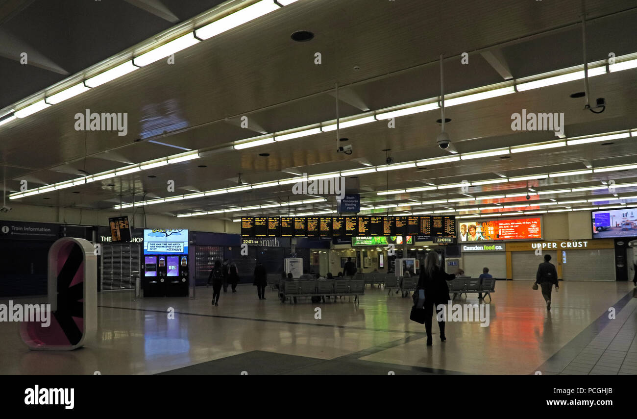 Railway Station, Leeds city centre, West Yorkshire, England, LS1, UK Stock Photo