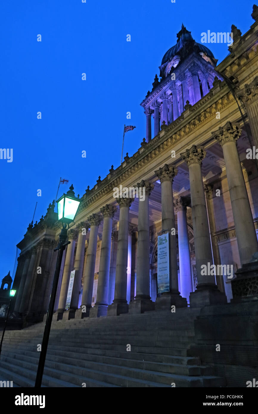 City Hall, Leeds city centre, West Yorkshire, England, LS1, UK - Stock Image