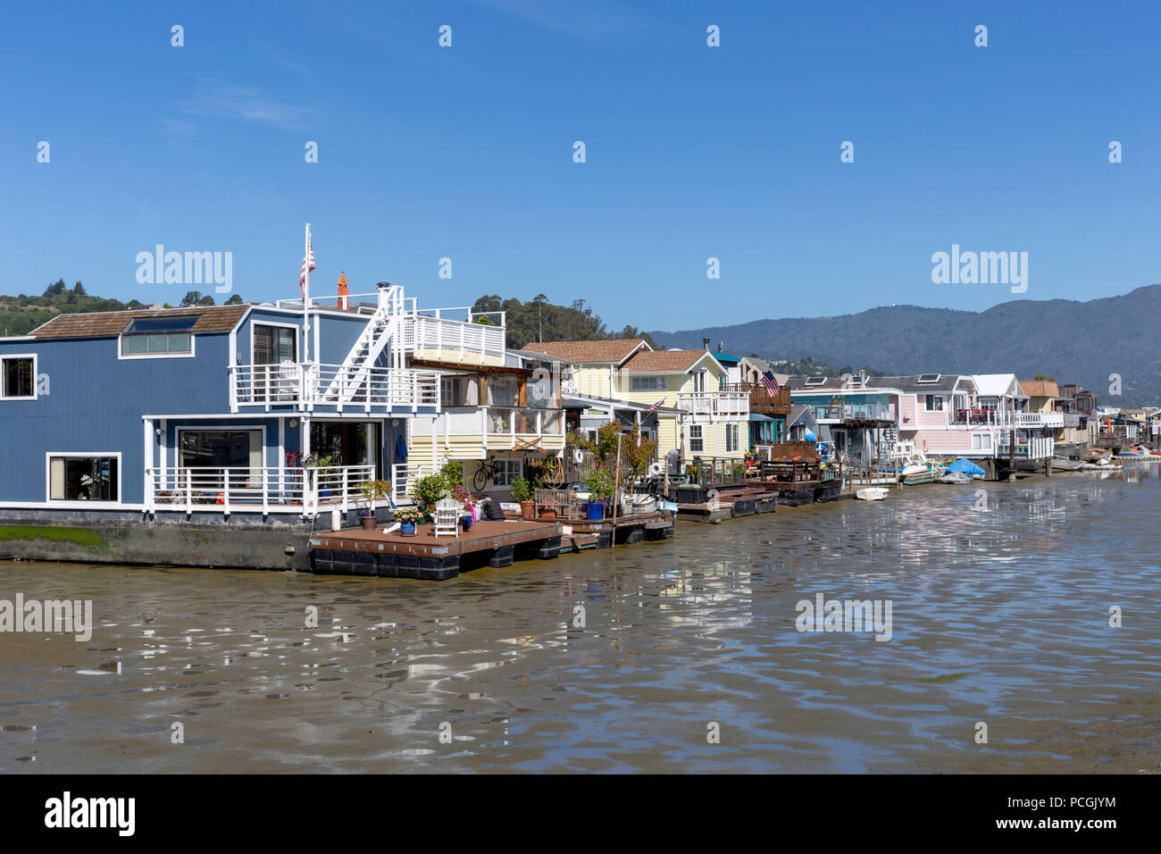 Sausalito Floating Homes, Sausalito, California, United States of America, Tuesday, June 05, 2018. - Stock Image