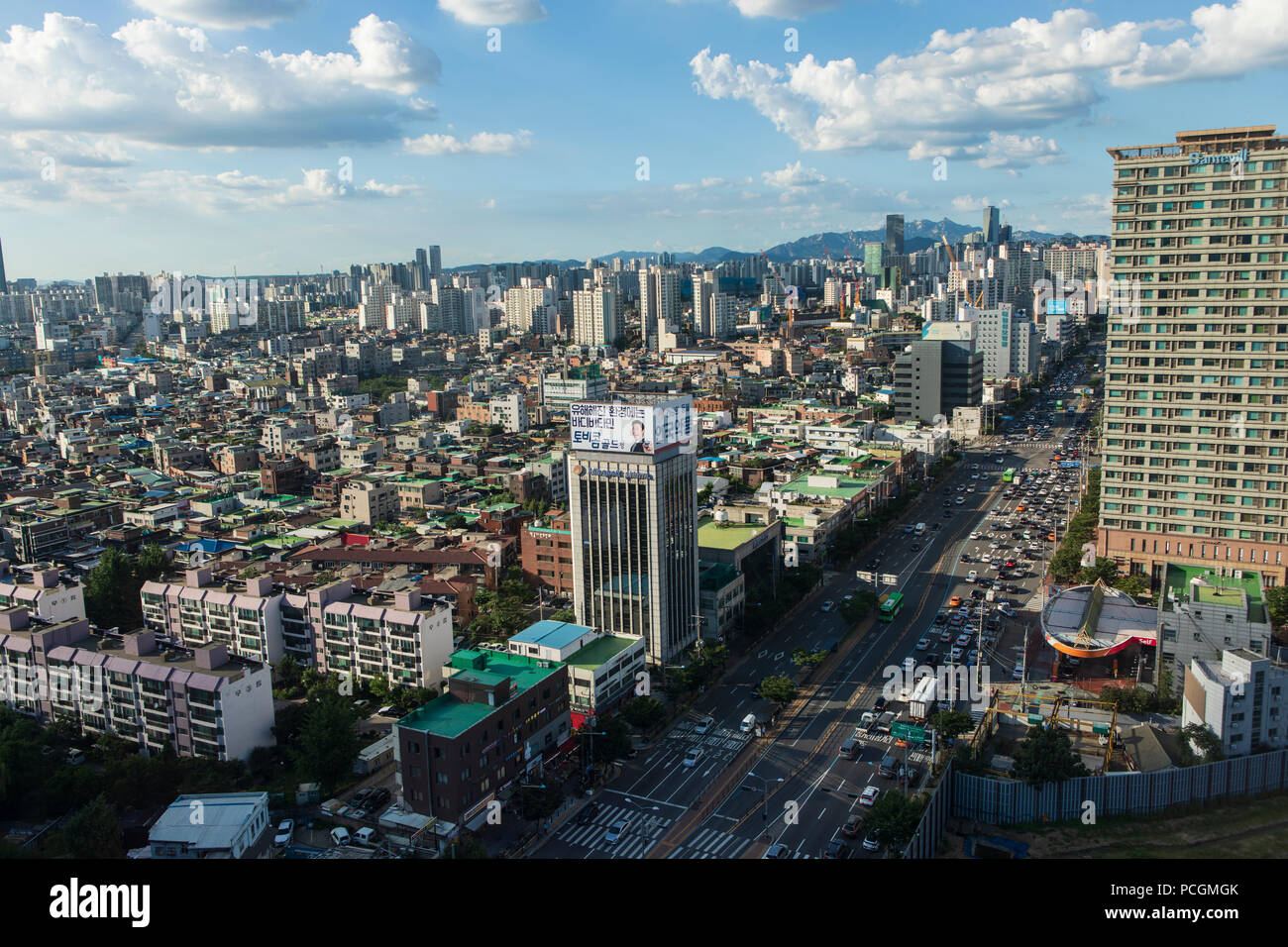Busy city, Seoul, Korea 2018 - Stock Image