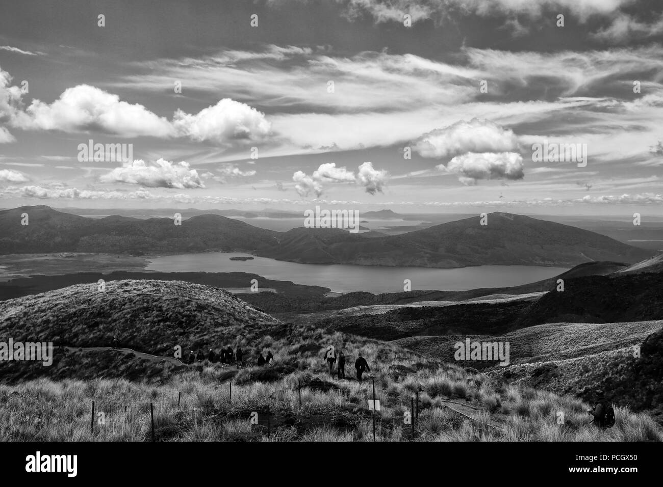 Along the Tongariro Alpine Crossing: Lake Rotorua - Stock Image