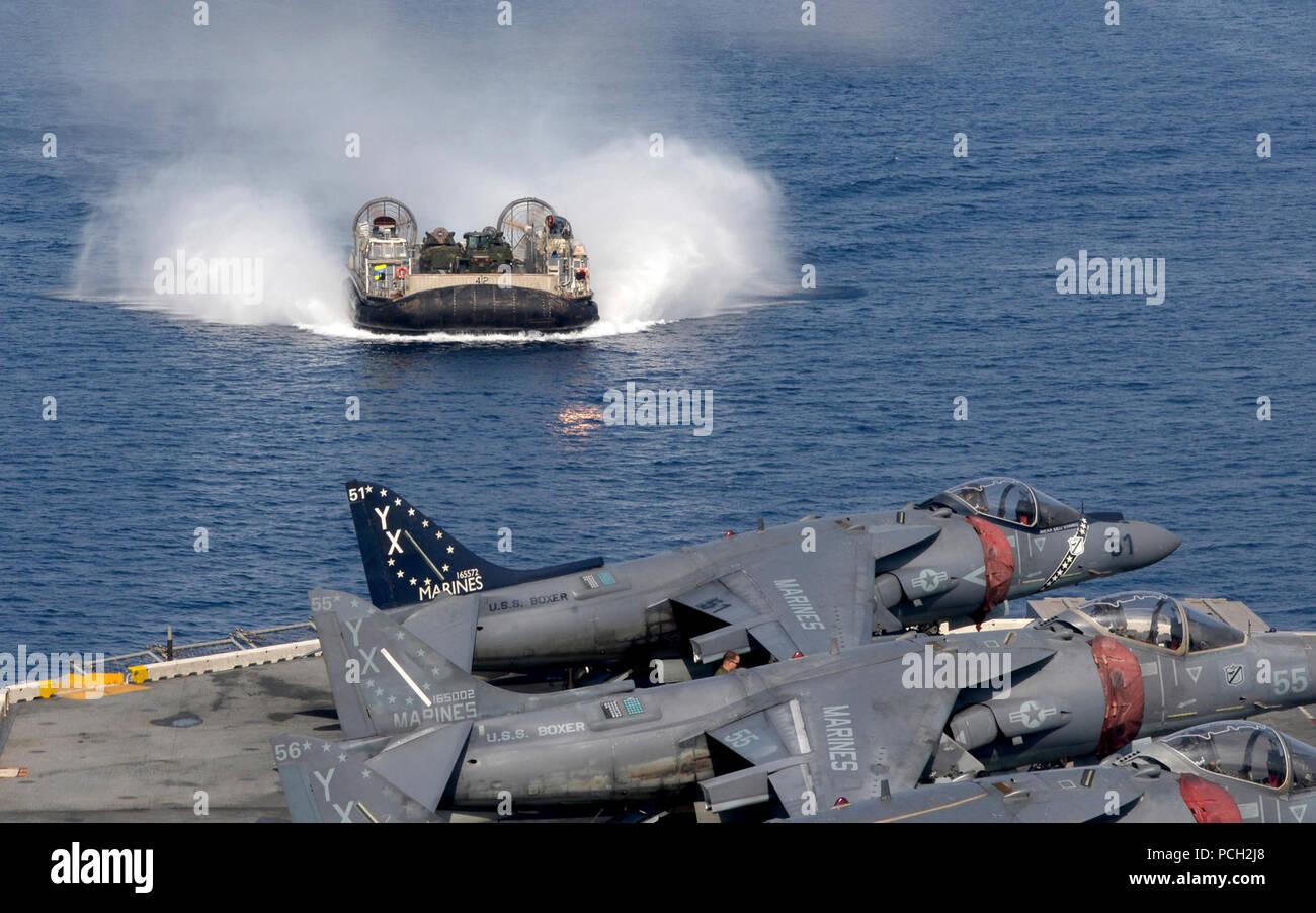 amphibious assault ship uss boxer lhd 4 stock photos