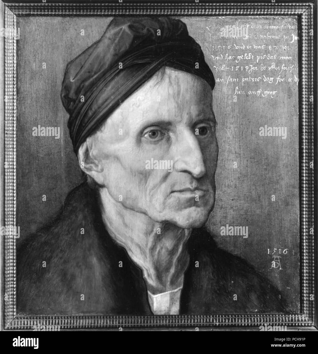 Albrecht Dürer - Bildnis Michael Wolgemut - 700 - - Stock Image