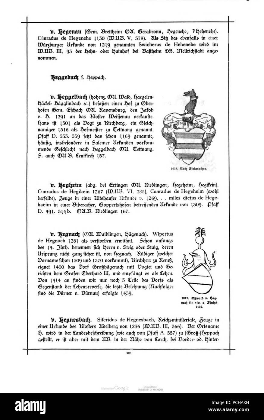 Alberti Wuerttembergisches Adels- und Wappenbuch 0289 Stock