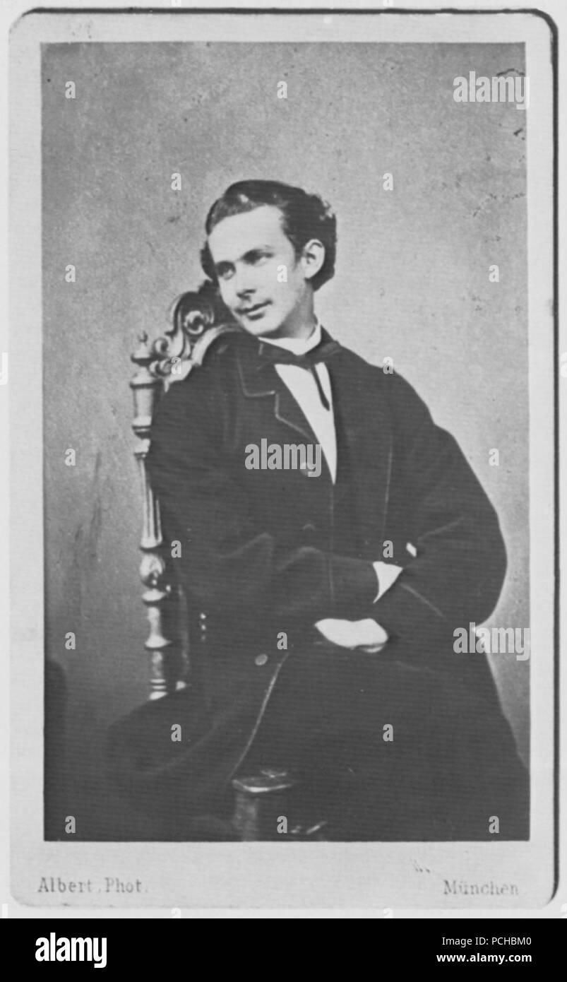 Albert, Joseph - Porträtstudie von König Ludwig II. (2) Stock Photo