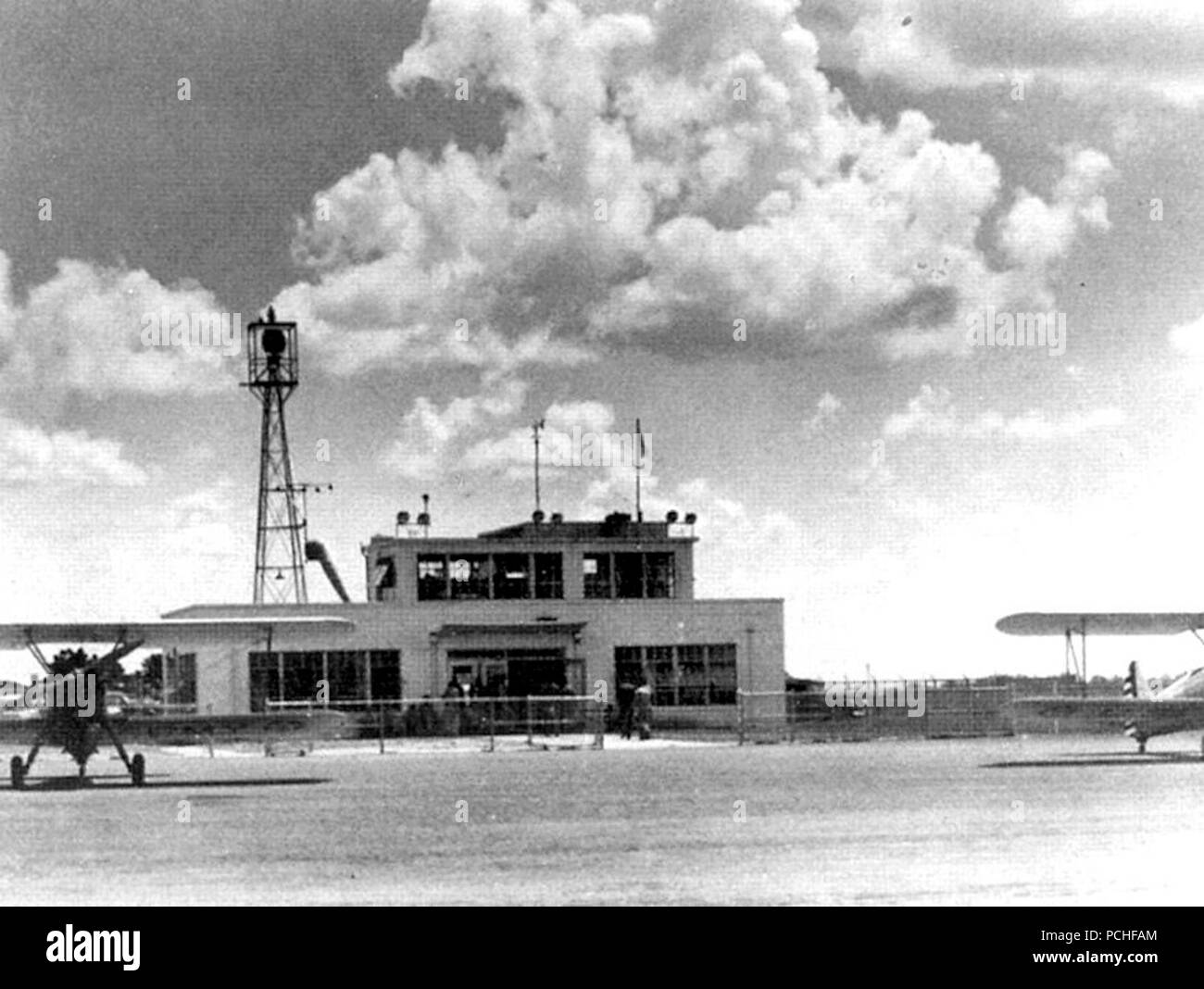 Albany Army Airfield - Door Aero-Tech Operations Building. - Stock Image