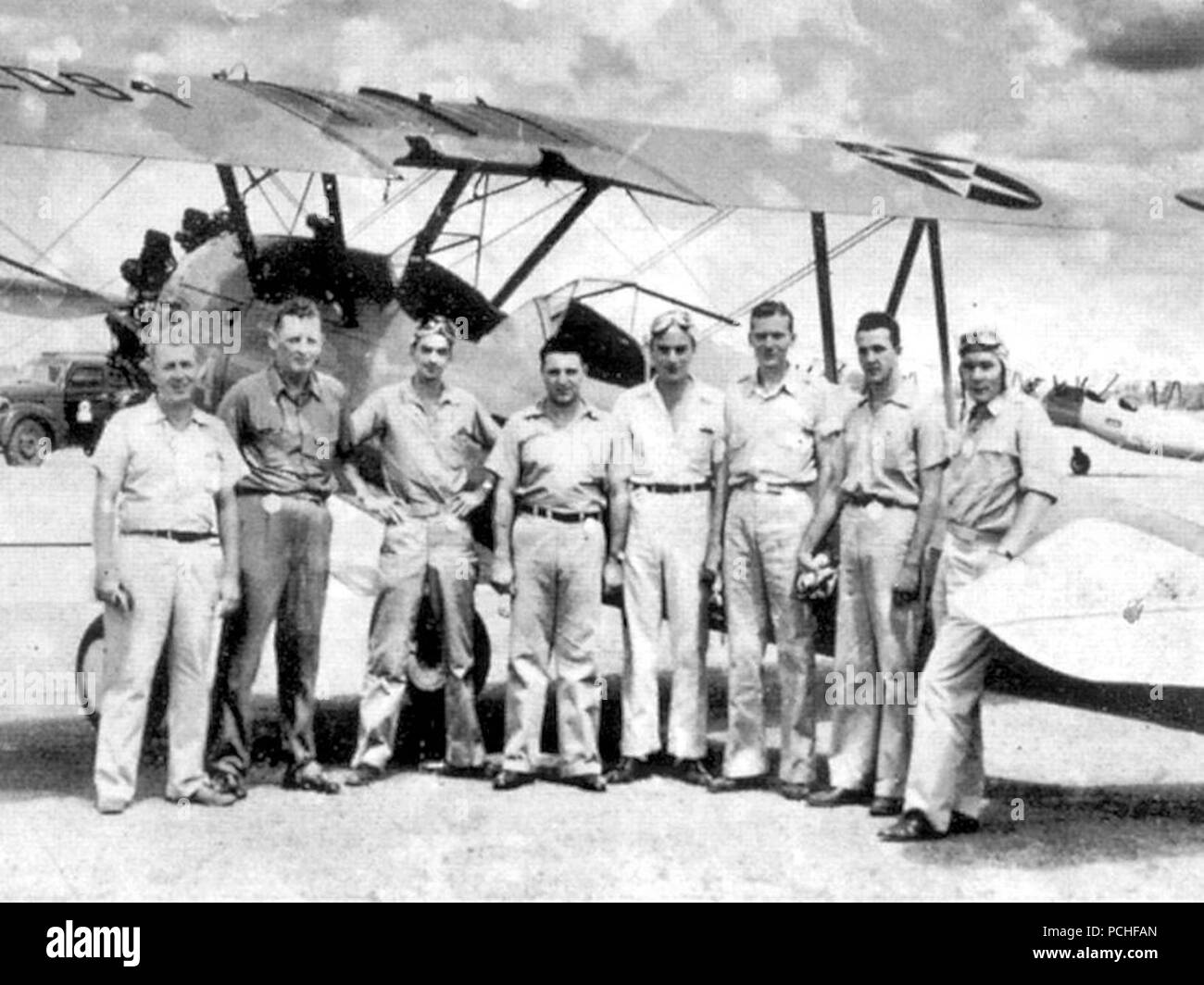 Albany Army Airfield - Door Aero-Tech Flight Instructors. - Stock Image