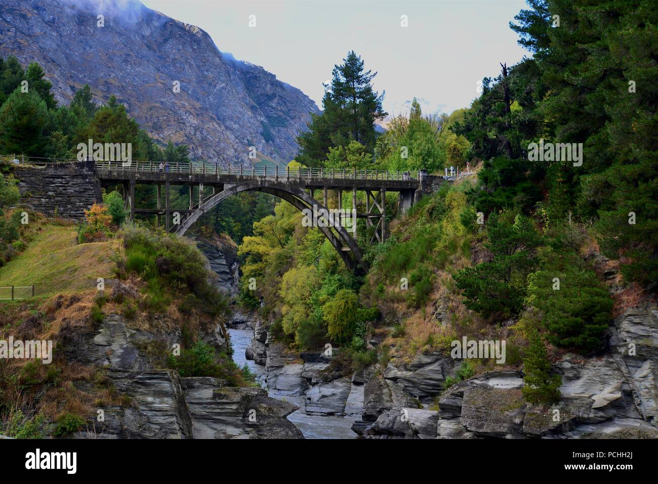 Queenstown, South Island, New Zealand Landscape - Stock Image