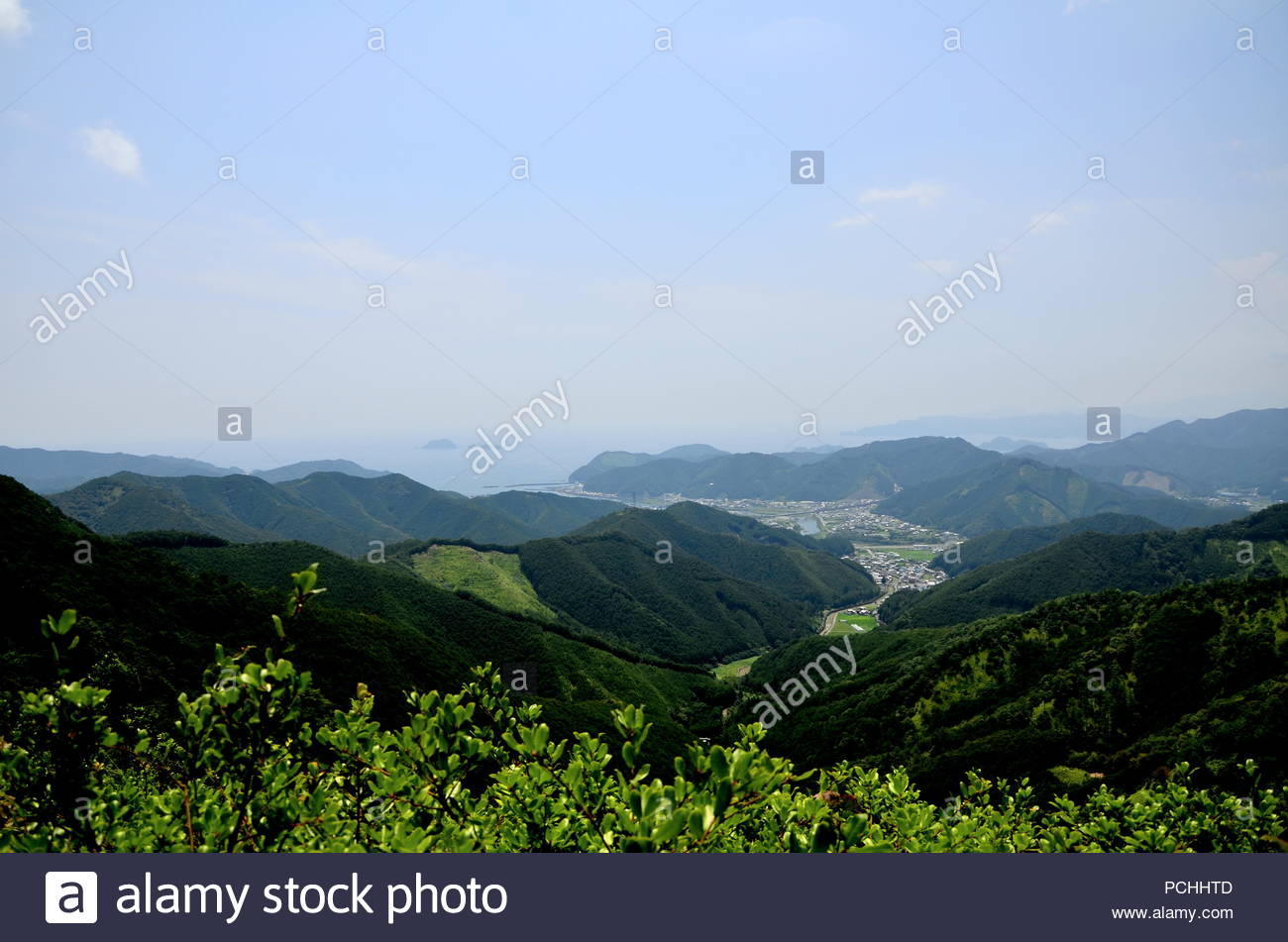 Tsuzurato-toge Pass was once the border between Ise and Kii Provinces. - Stock Image