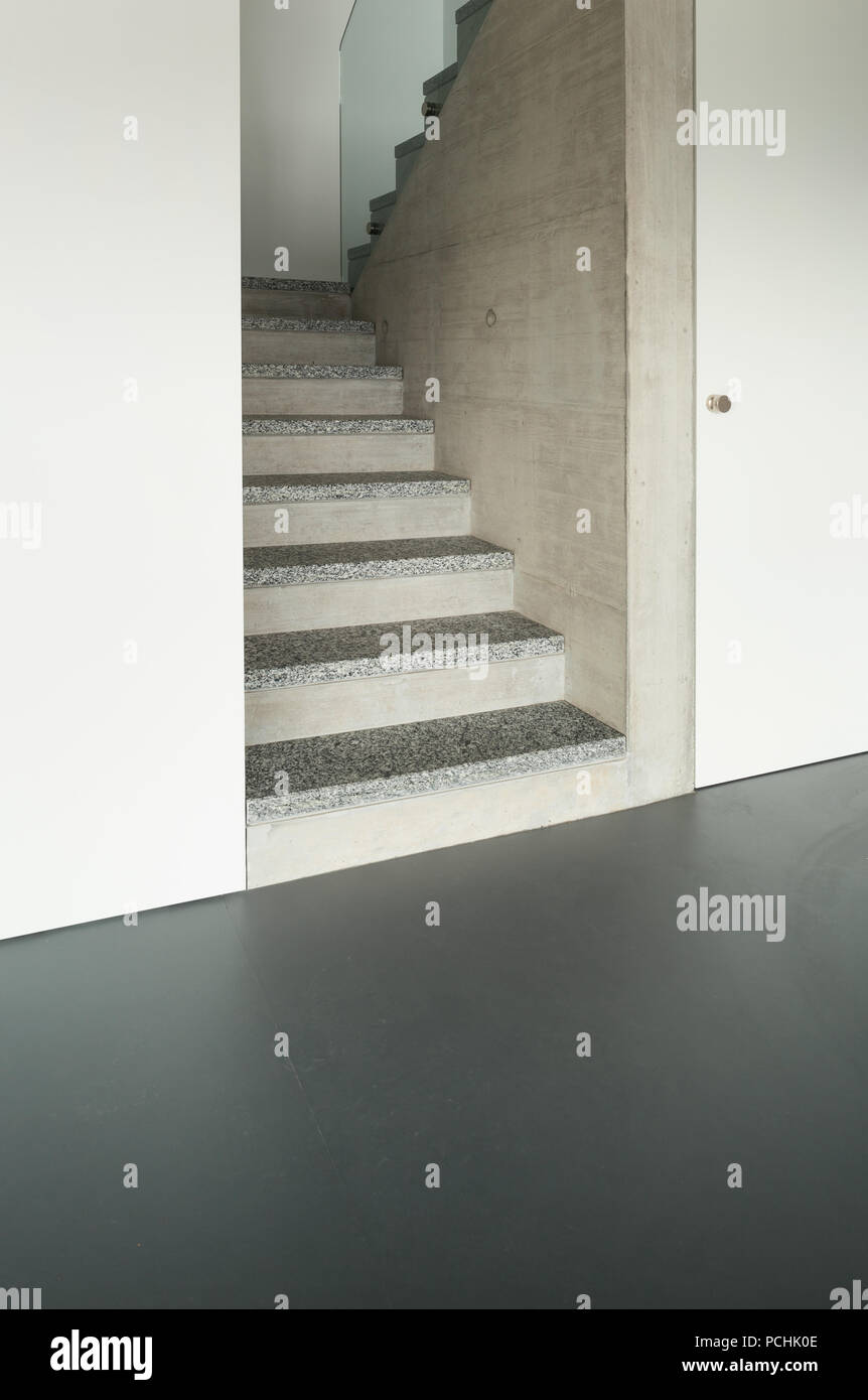 Modern Building Granite Staircase Interior Stock Photo Alamy