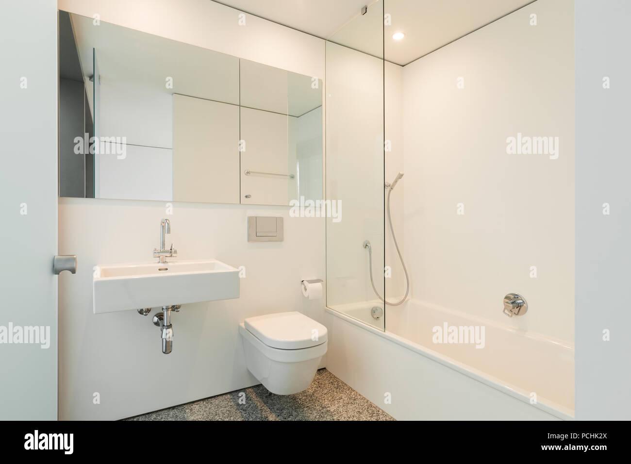 Modern Architecture Nice Apartment Bathroom Stock Photo 214288450 - Nice-apartment-bathrooms
