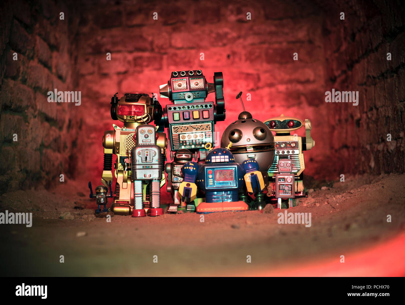 toy,robot,science fiction - Stock Image