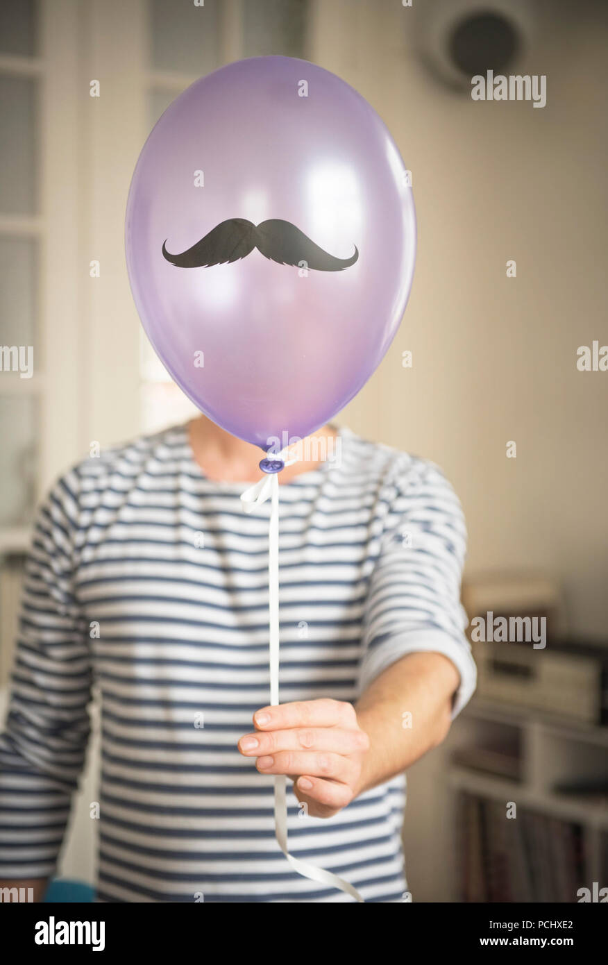 carnival,party,mustache - Stock Image
