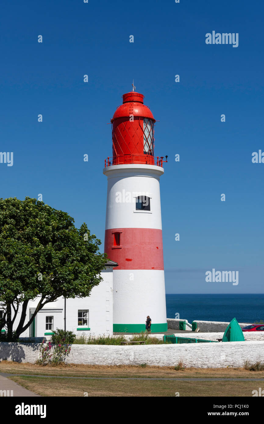 Souter Lighthouse, Marsden, South Shields, Tyne & Wear, England, United Kingdom - Stock Image