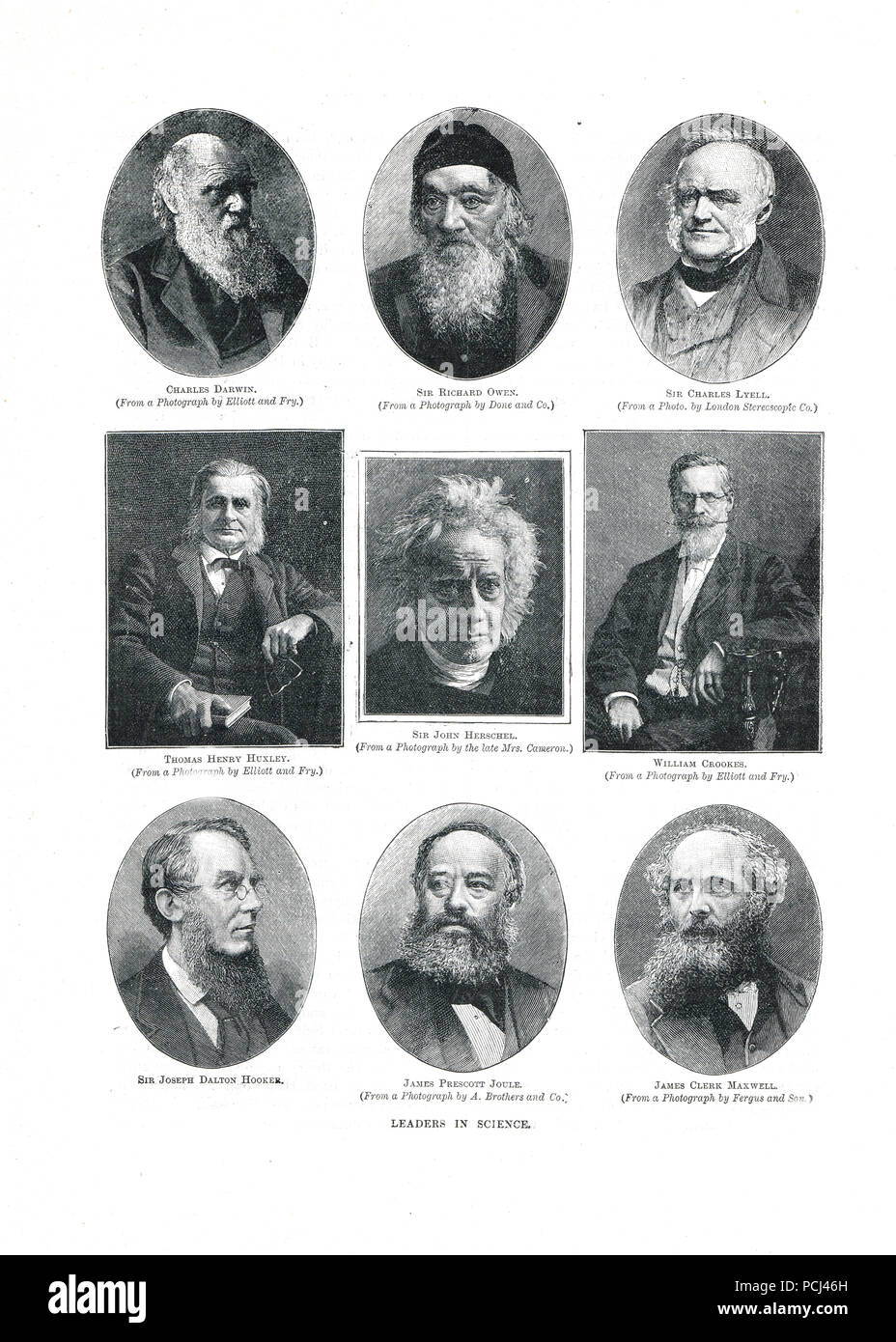 Leaders in science of the 19th Century - Stock Image