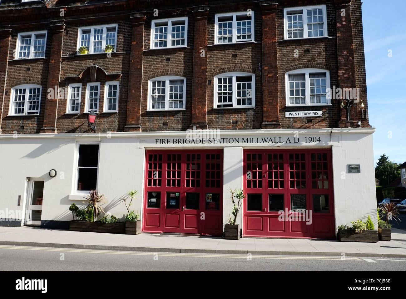 Millwall Old Fire Staion Westferry Road Isle of Dogs London UK - Stock Image