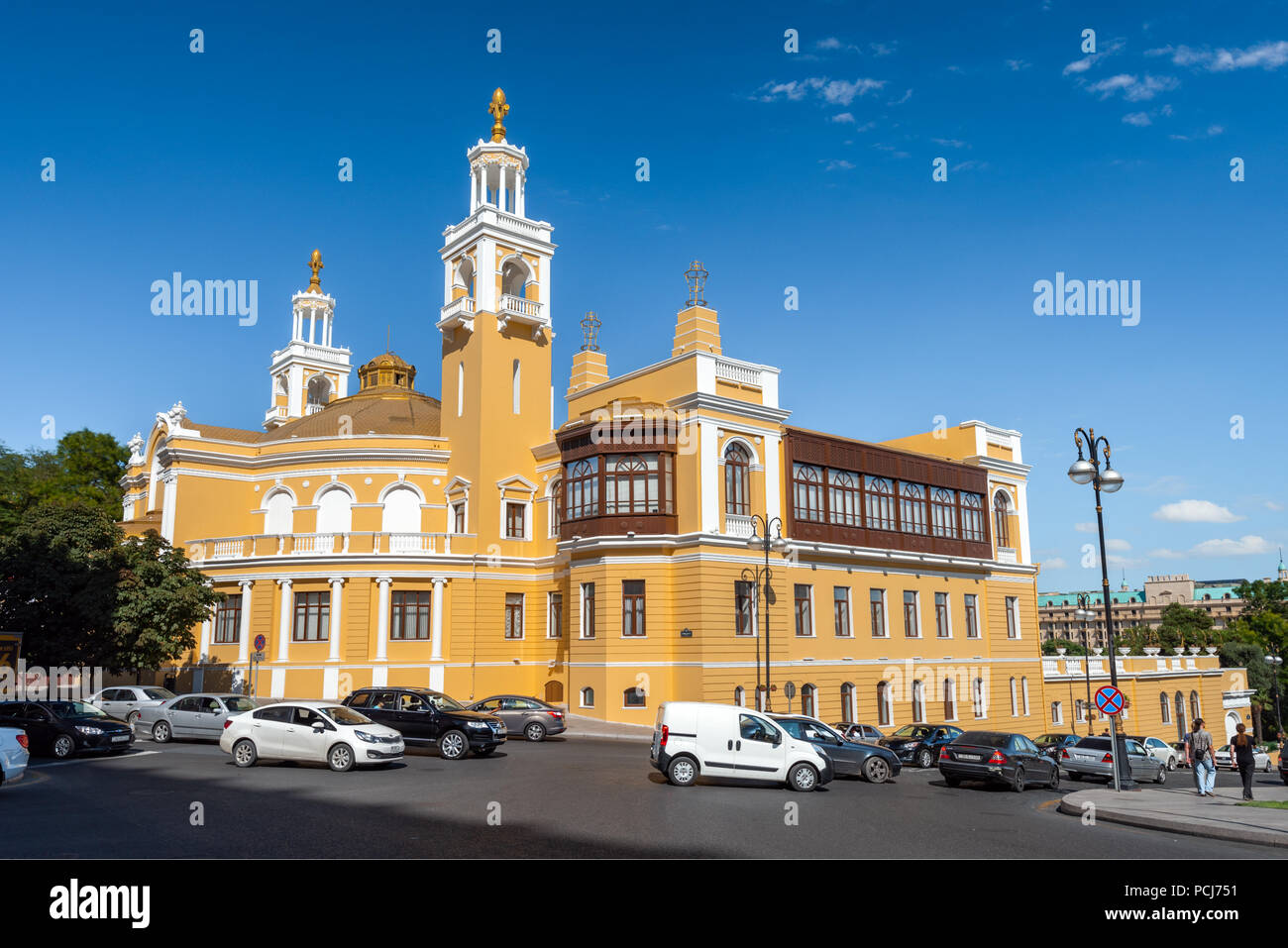 Baku, Azerbaijan, May 03, 2018. Old architectural building of the State Philharmonic - Stock Image