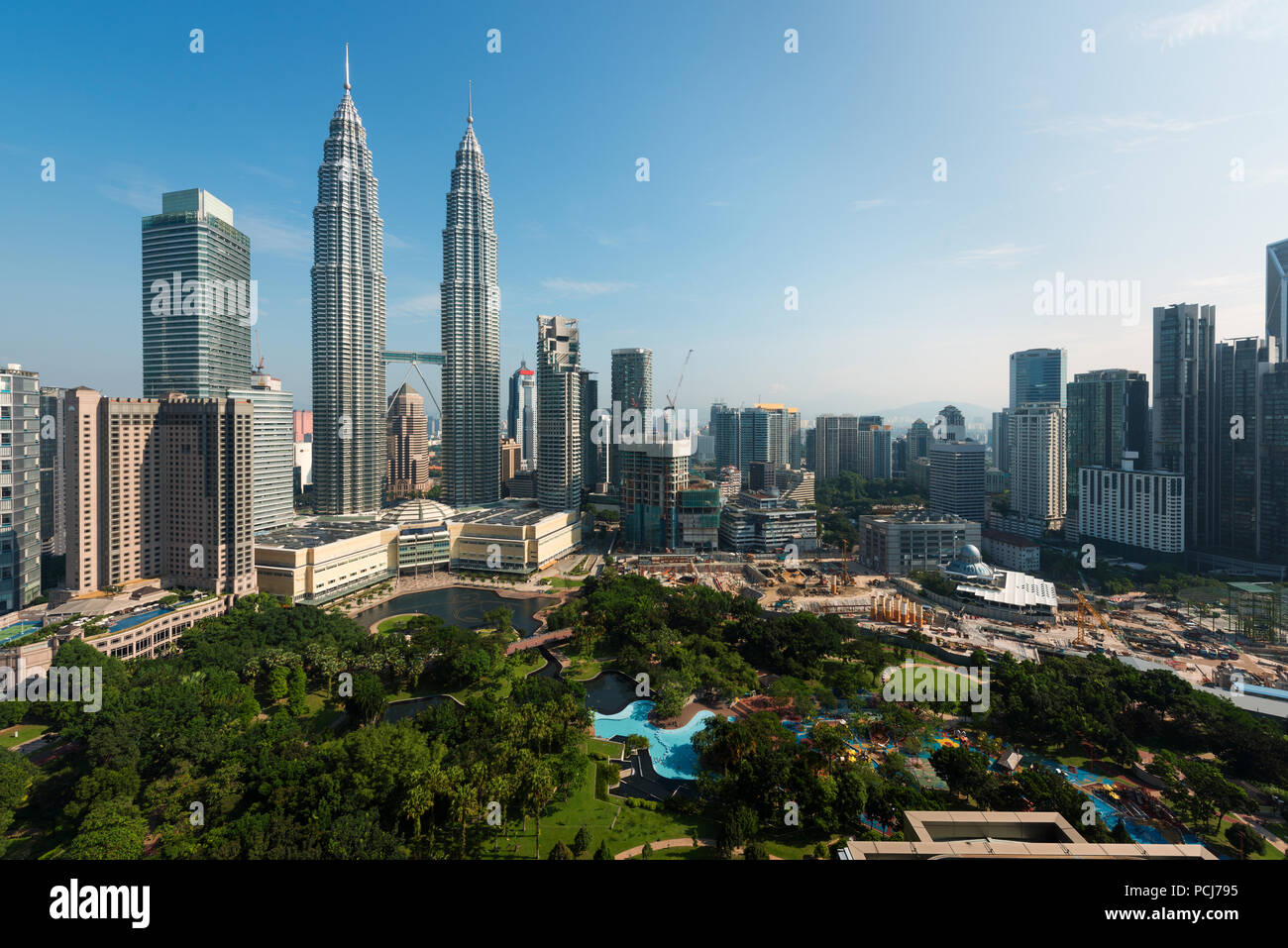 Kuala lumpur skyline in the morning, Malaysia, Kuala lumpur is capital city of Malaysia Stock Photo