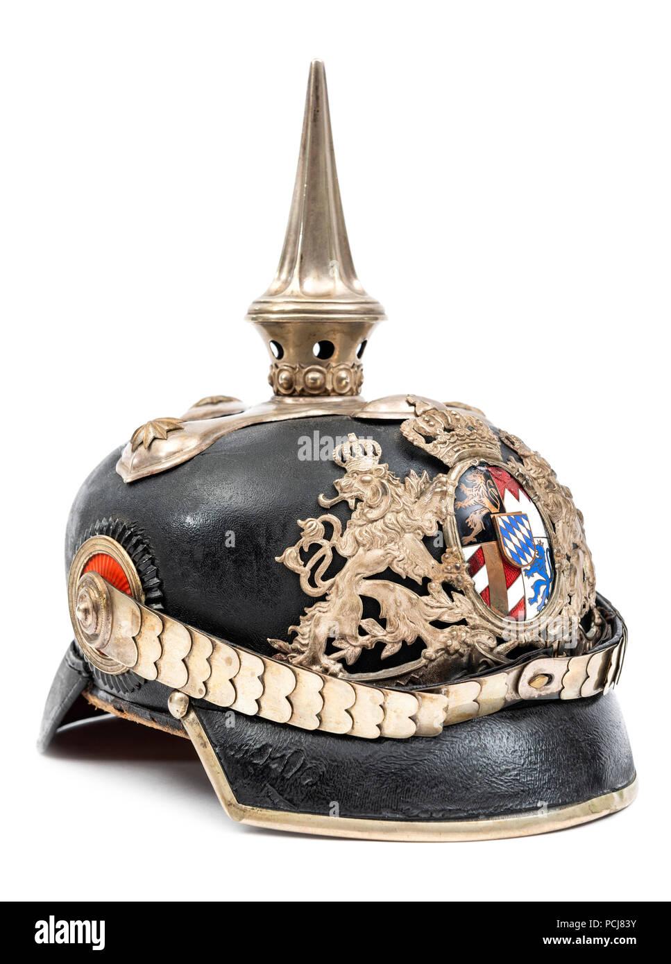 German Pickelhaube Helmet - Stock Image