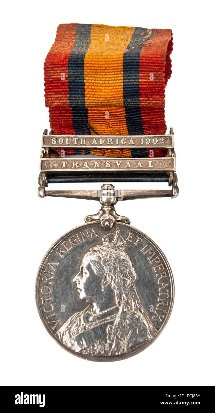 Victorian 'Transvaal' South Africa 1902 medal - Stock Image